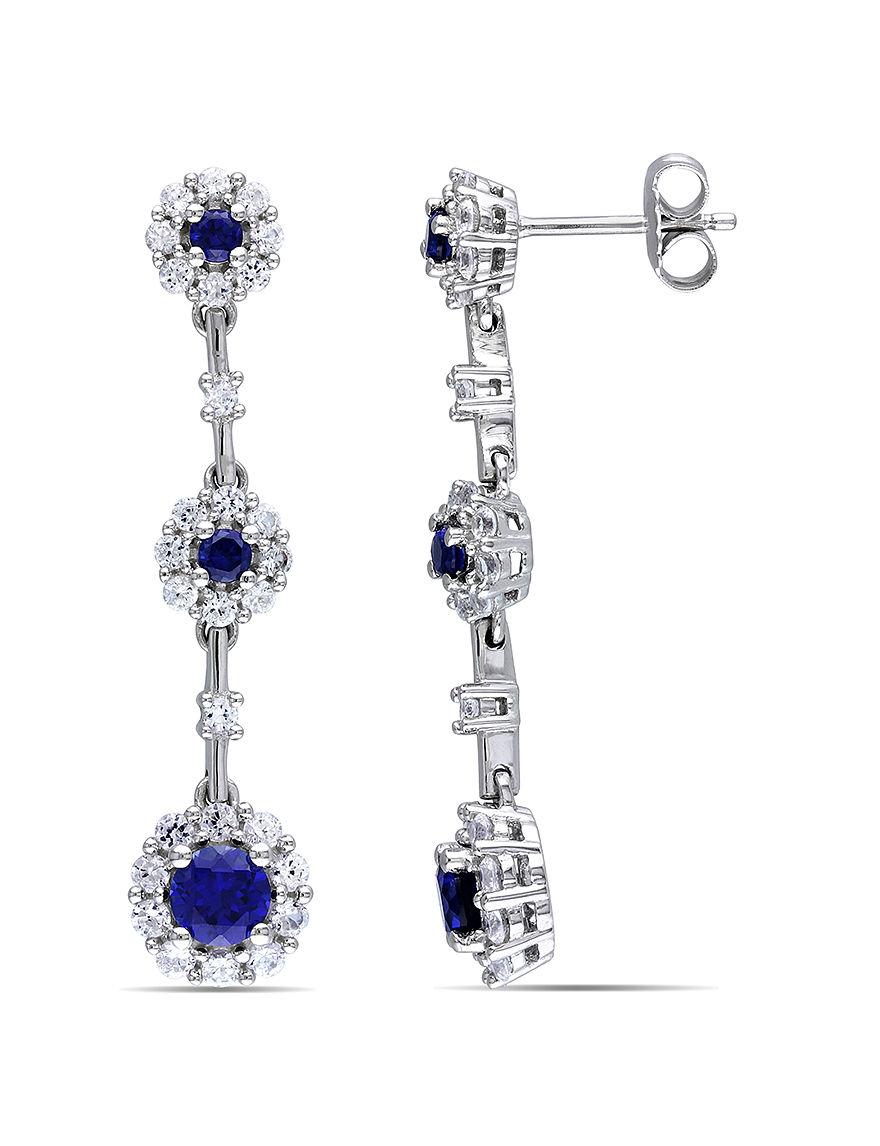 Sophia B Silver Drops Earrings Fine Jewelry