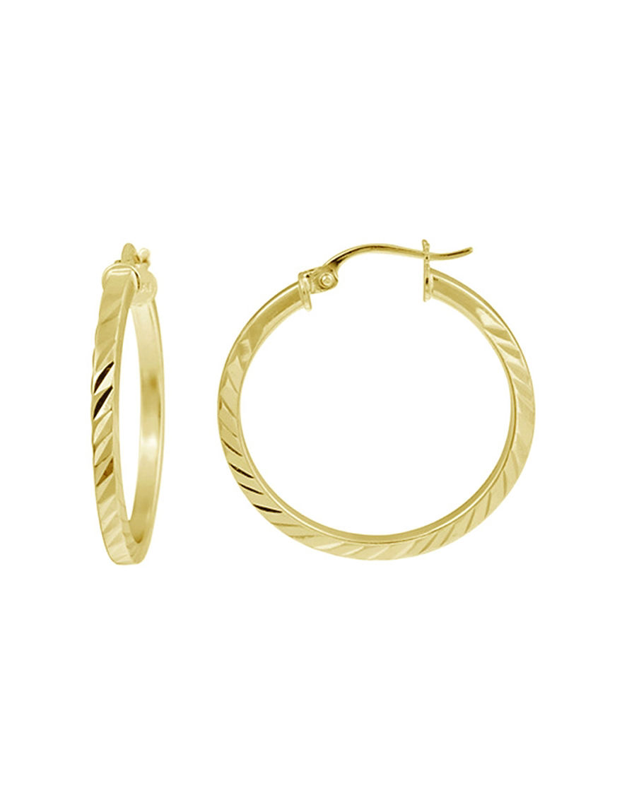 FMC Gold Hoops Earrings Fine Jewelry