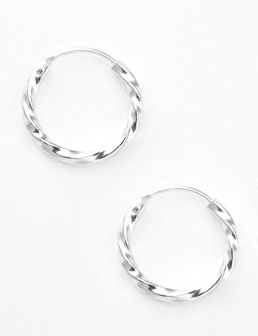 FMC Sterling Silver Hoops Earrings Fine Jewelry
