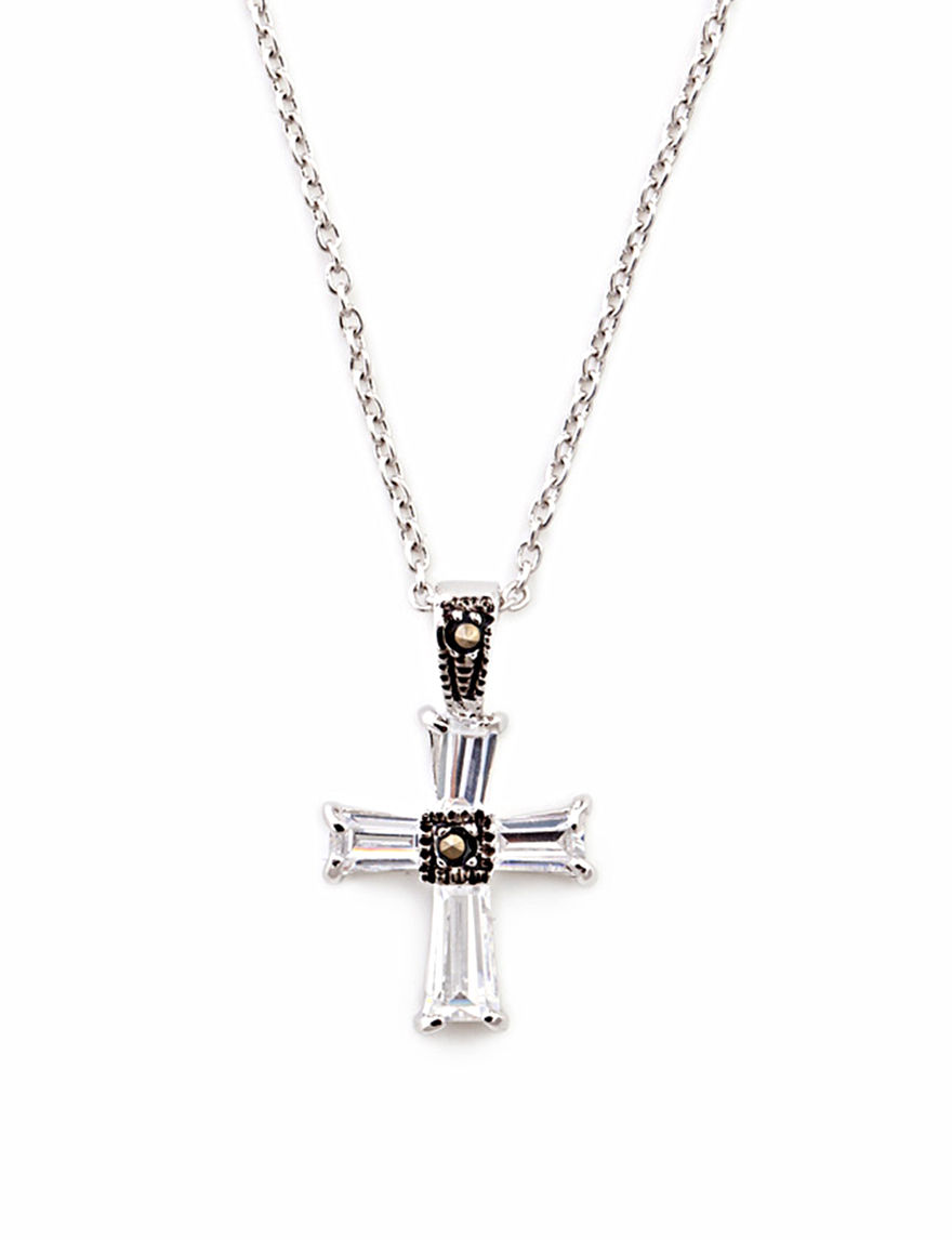 FMC Silver / Crystal Necklaces & Pendants Fine Jewelry