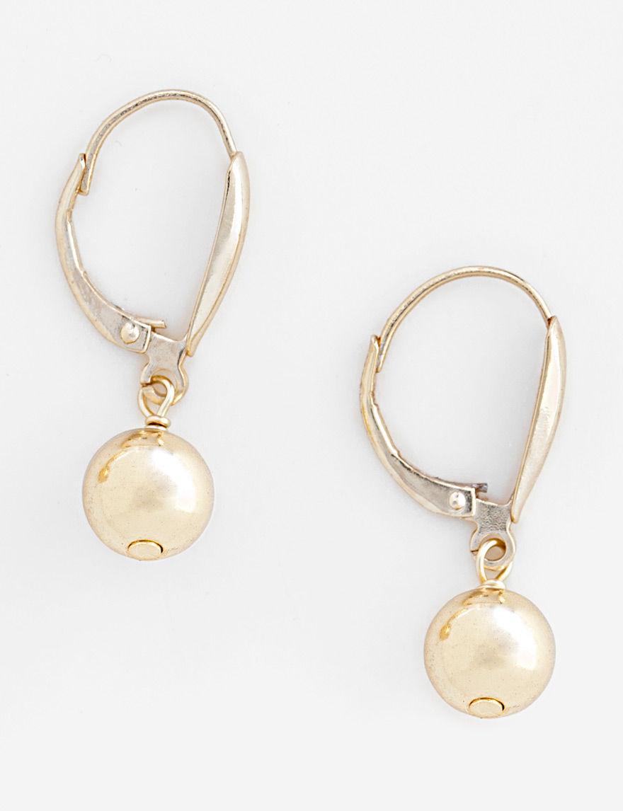 FMC Gold / Pearl Drops Earrings Fine Jewelry