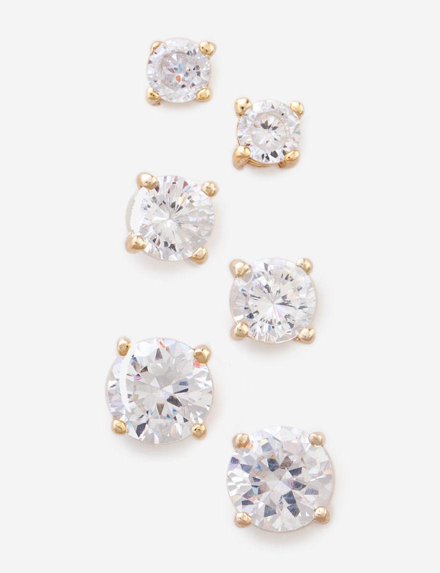 FMC Sterling Silver Studs Earrings Fine Jewelry