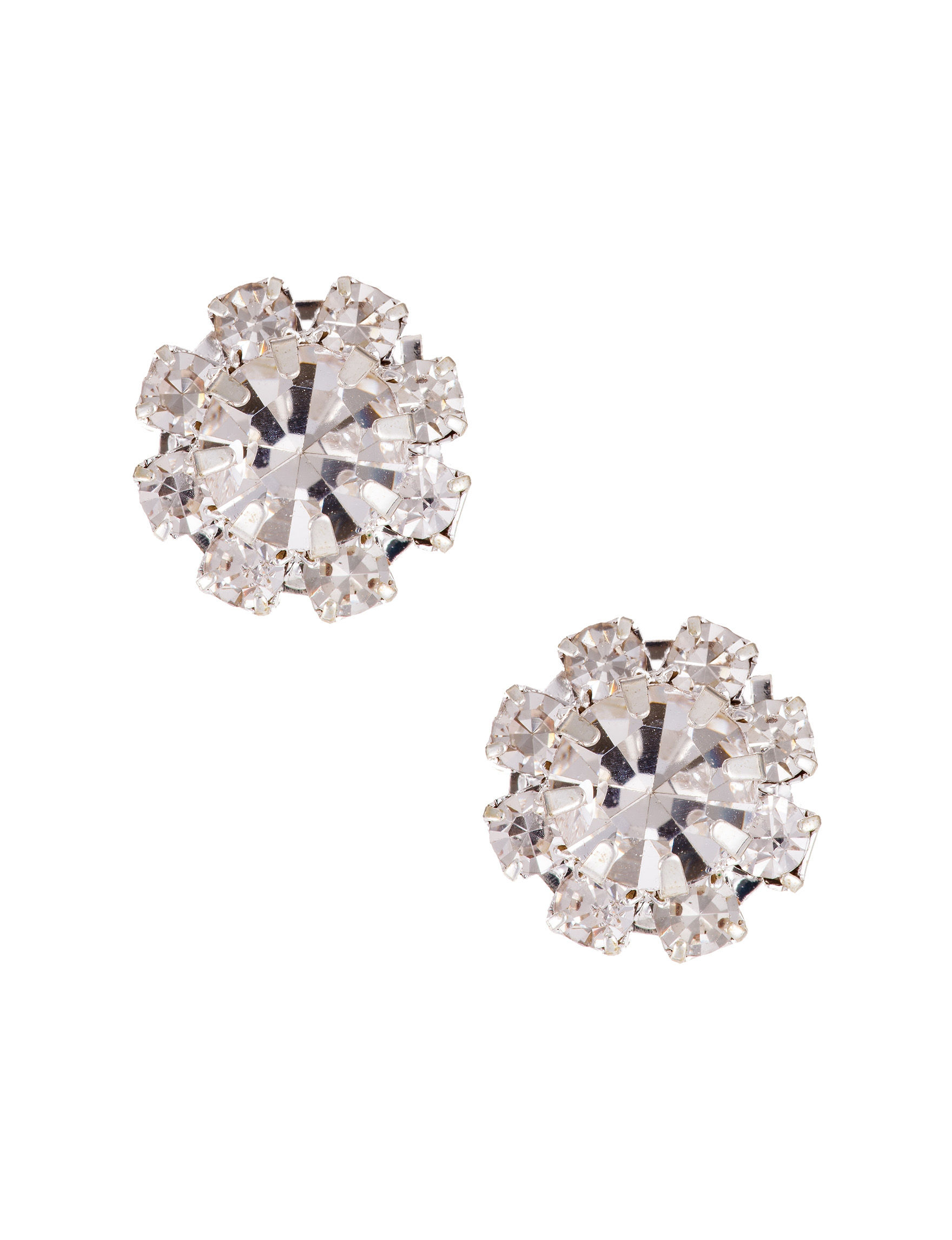 Via Roma Crystal Studs Earrings Fashion Jewelry