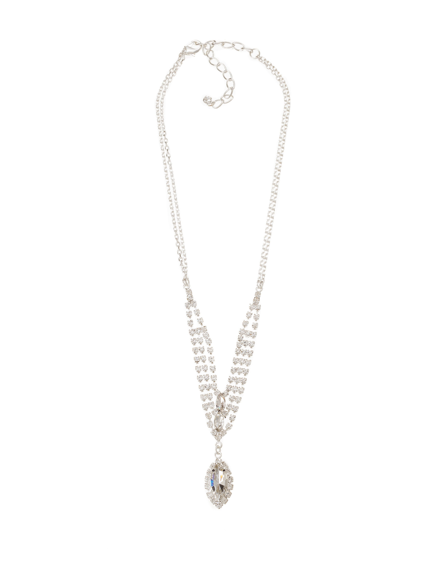 Via Roma Clear Necklaces & Pendants Fashion Jewelry