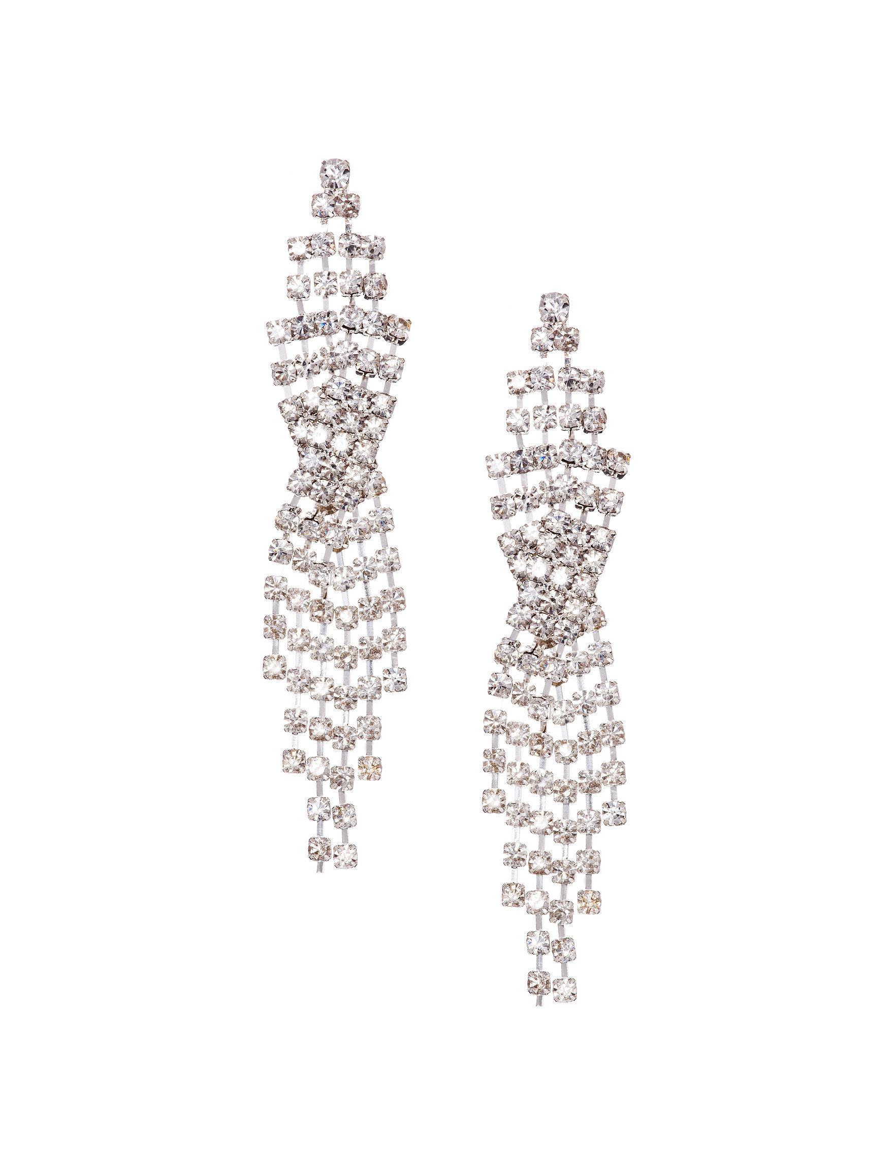 Via Roma Crystal Drops Earrings Fashion Jewelry