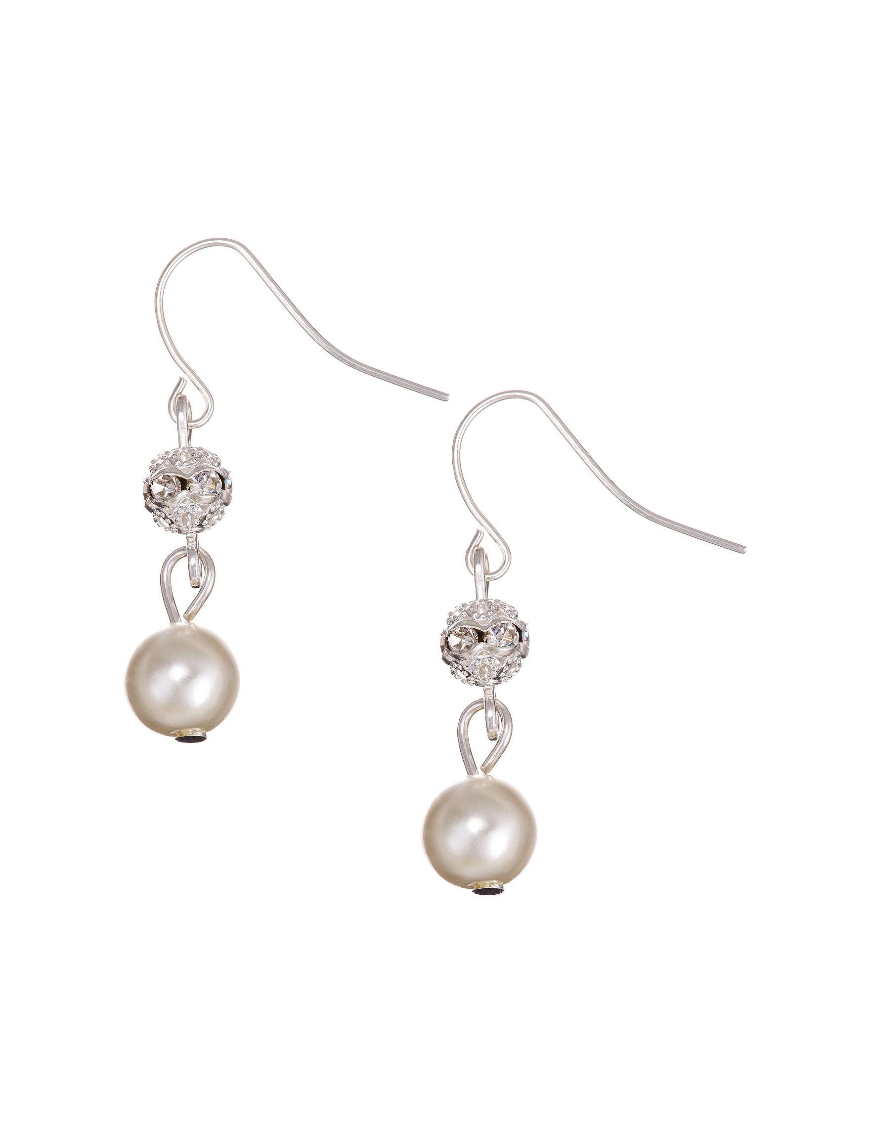 Via Roma Pearl Drops Earrings Fashion Jewelry