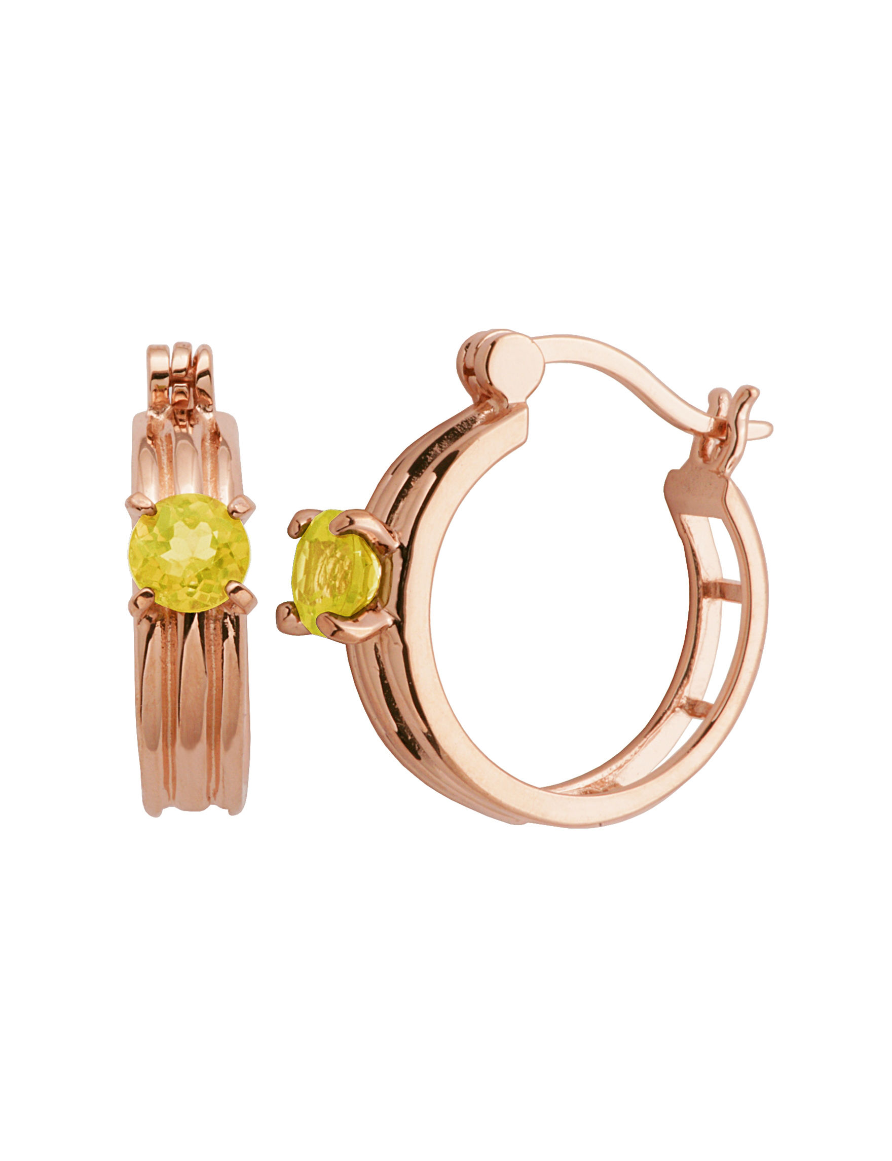 PAJ INC. Rose Gold Hoops Earrings Fine Jewelry