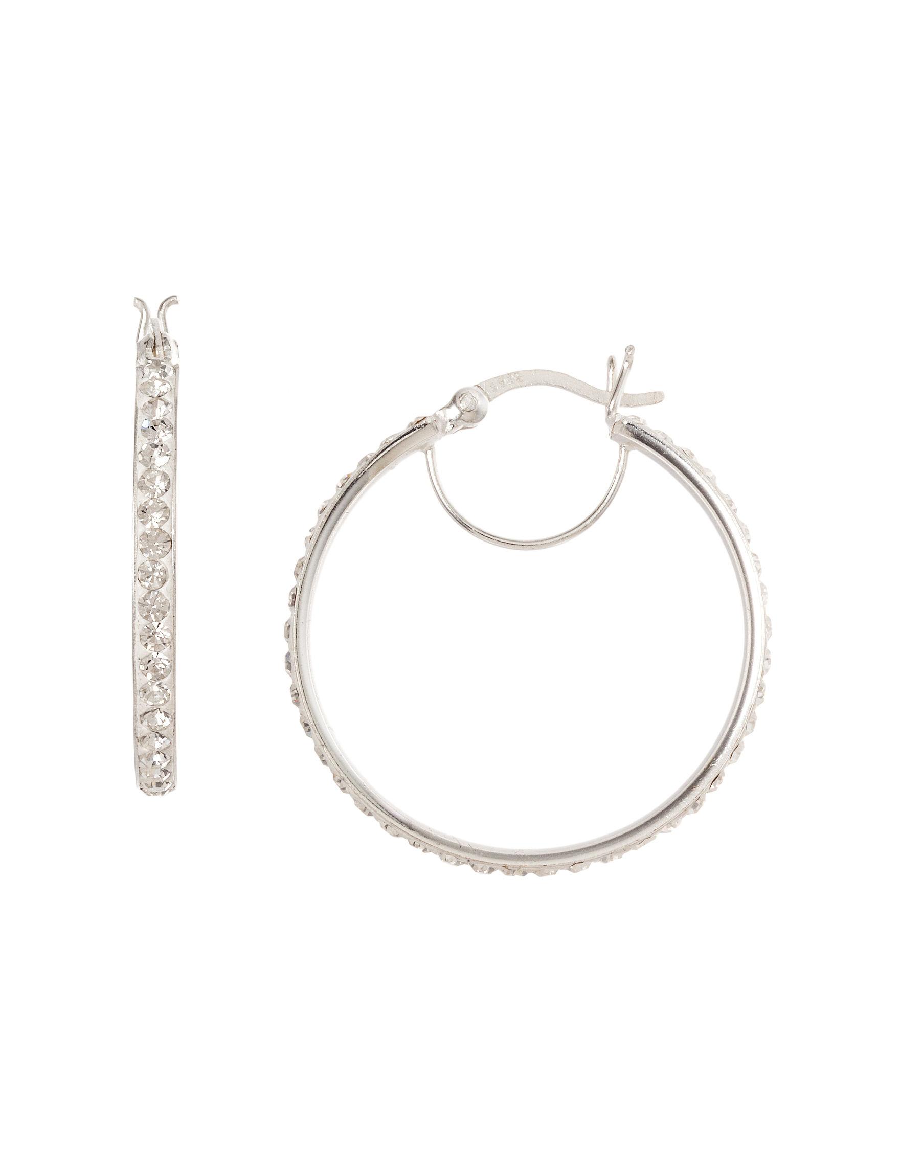 Marsala Silver / Crystal Earrings Fine Jewelry