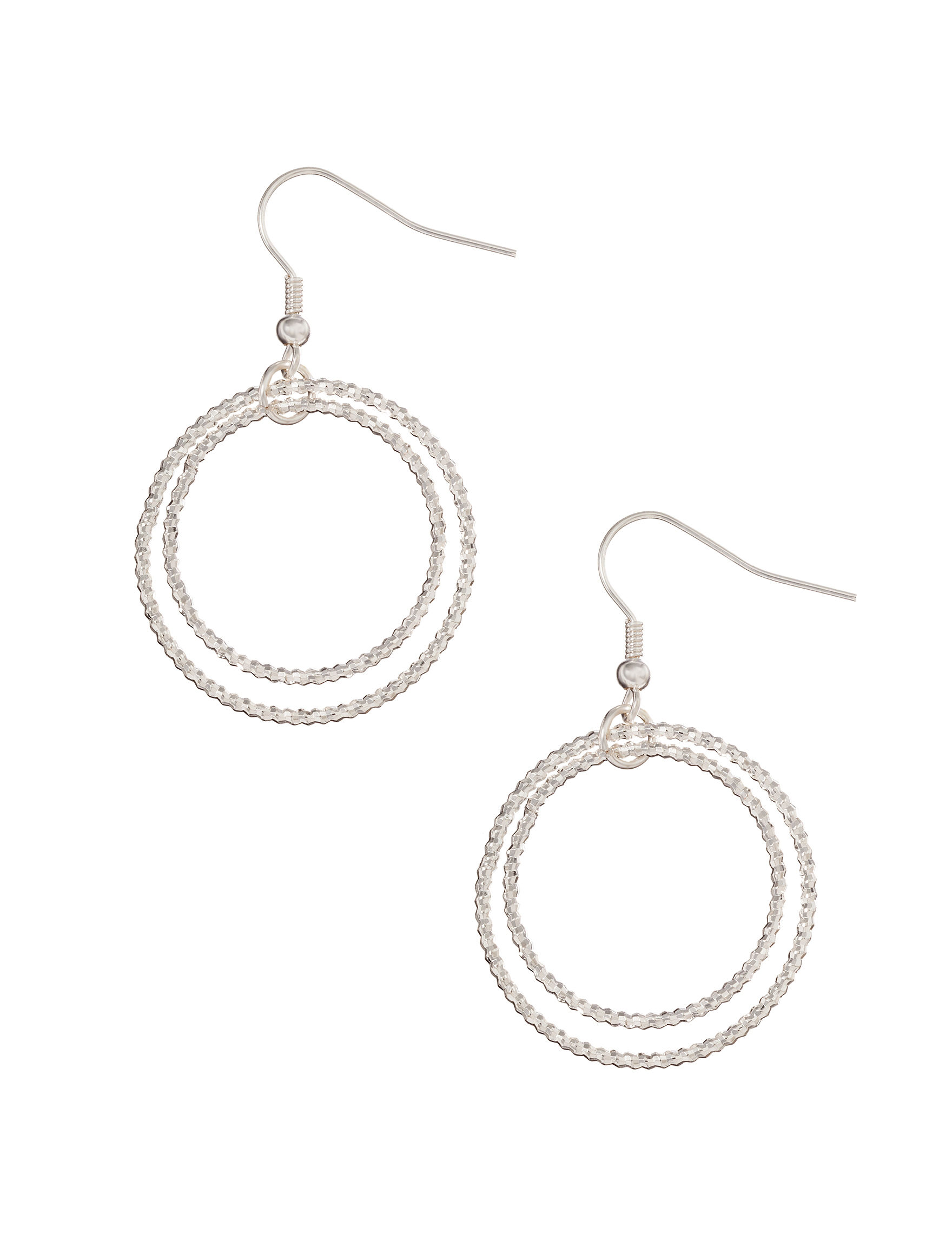 Hannah Silver / Crystal Drops Earrings Fashion Jewelry