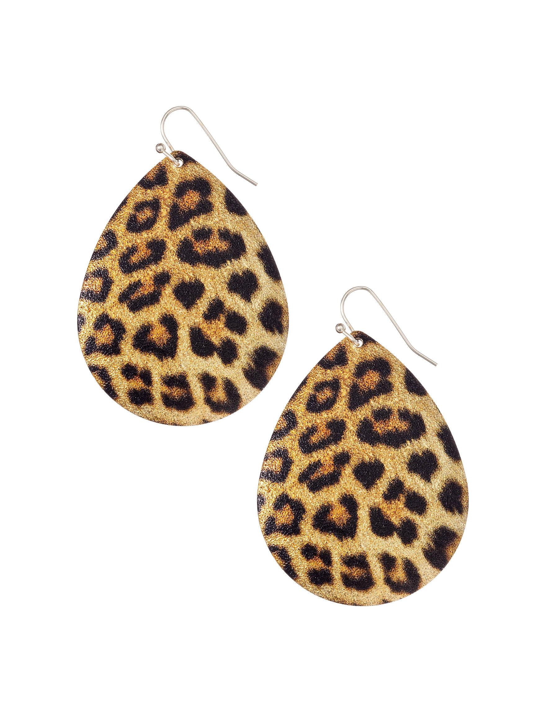 Hannah Cheetah Drops Earrings Fashion Jewelry