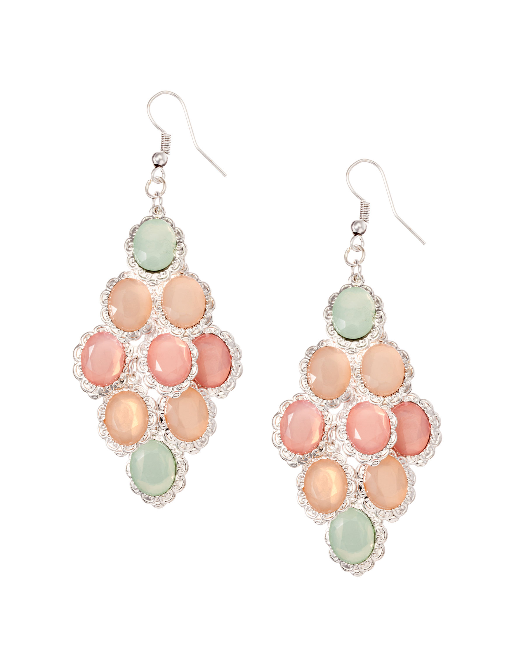 Hannah Peach Drops Earrings Fashion Jewelry