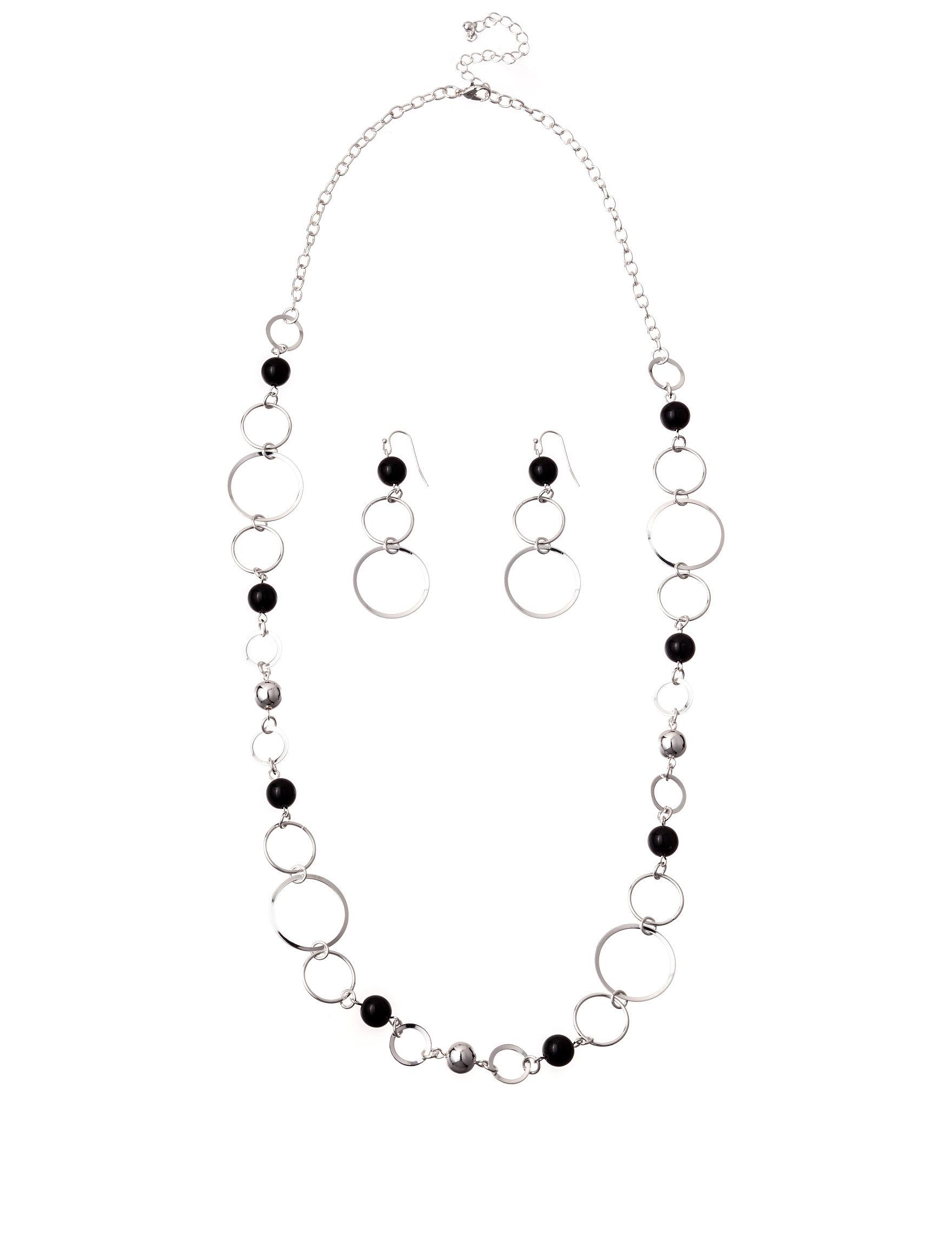 Hannah Black Drops Earrings Jewelry Sets Necklaces & Pendants Fashion Jewelry