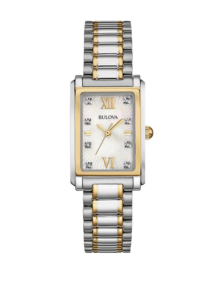 Bulova Silver Fashion Watches Bracelets