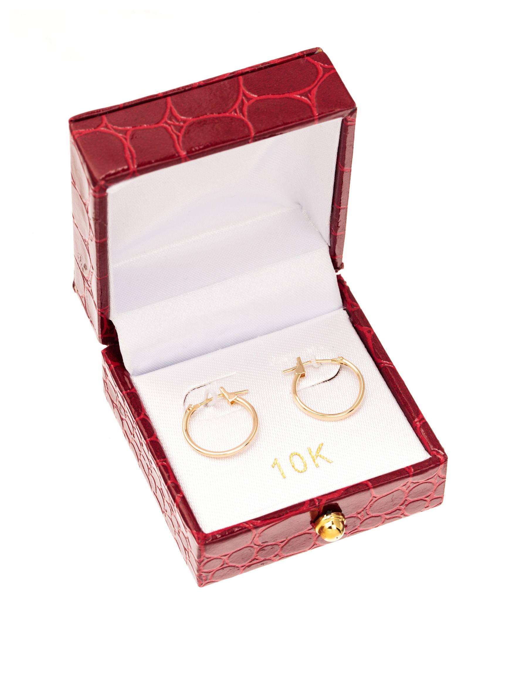 JTS Gold Hoops Earrings Fine Jewelry