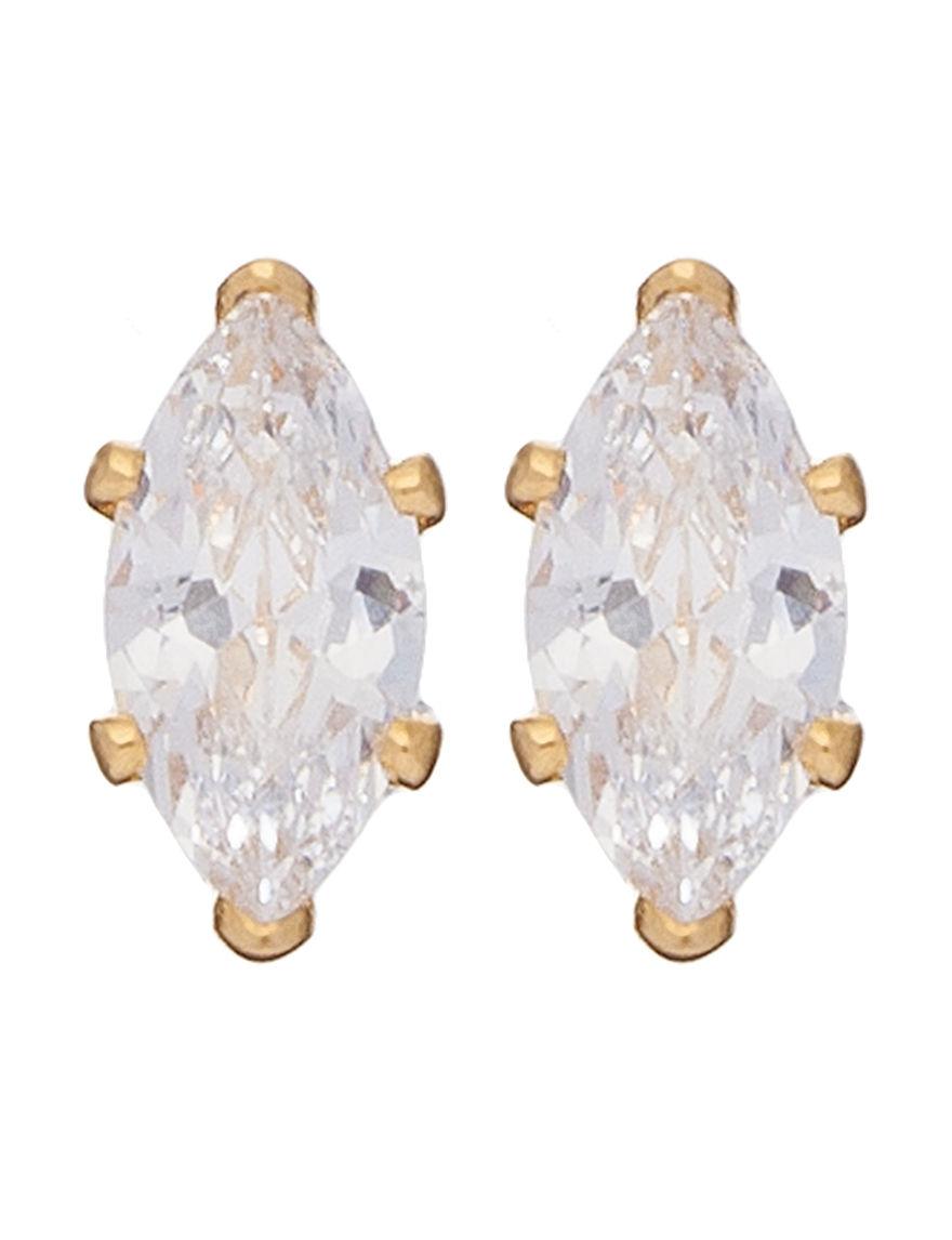 Robert Enterprises White Studs Earrings Fashion Jewelry