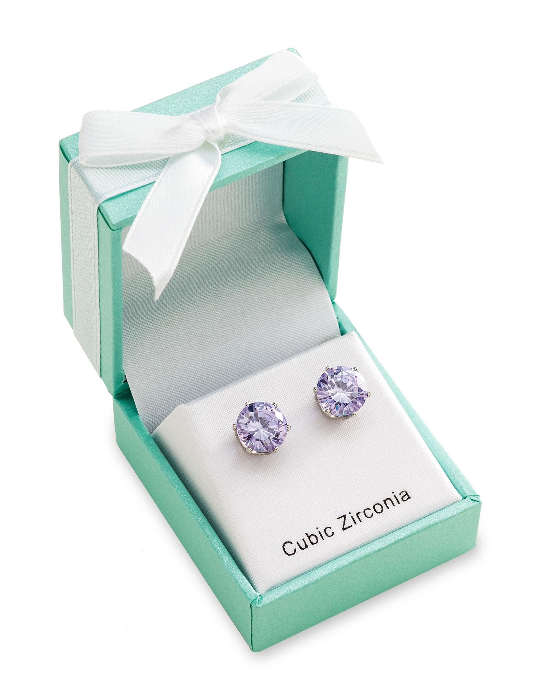 Robert Enterprises Silver Studs Earrings Fashion Jewelry