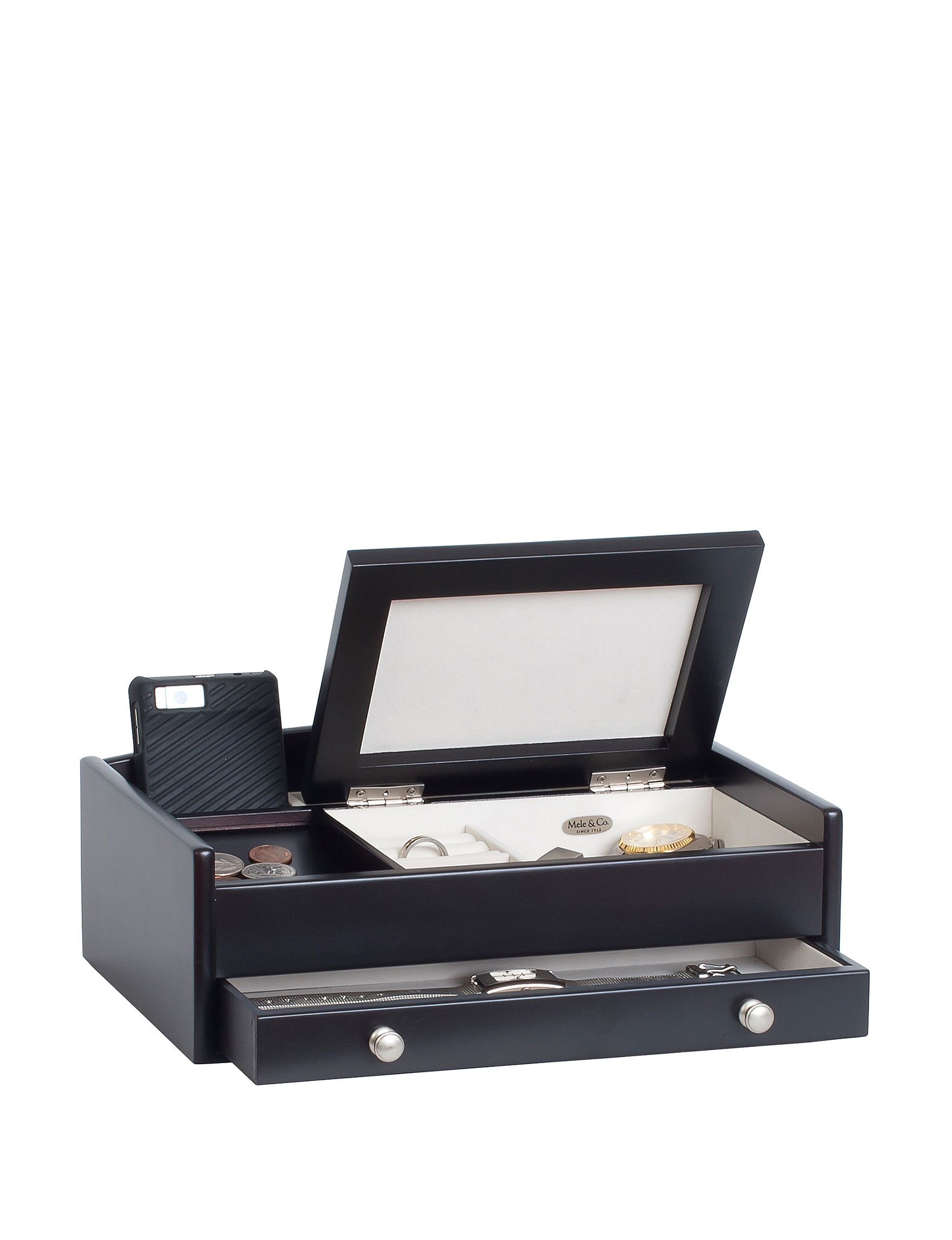 Mele & Co. Dark Brown Jewelry Storage & Organization