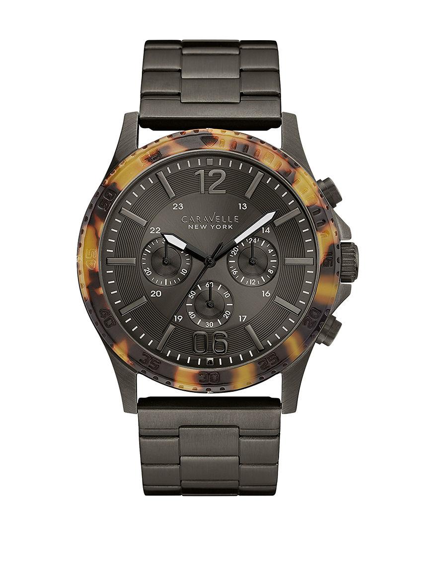 Caravelle Dark Grey Fashion Watches