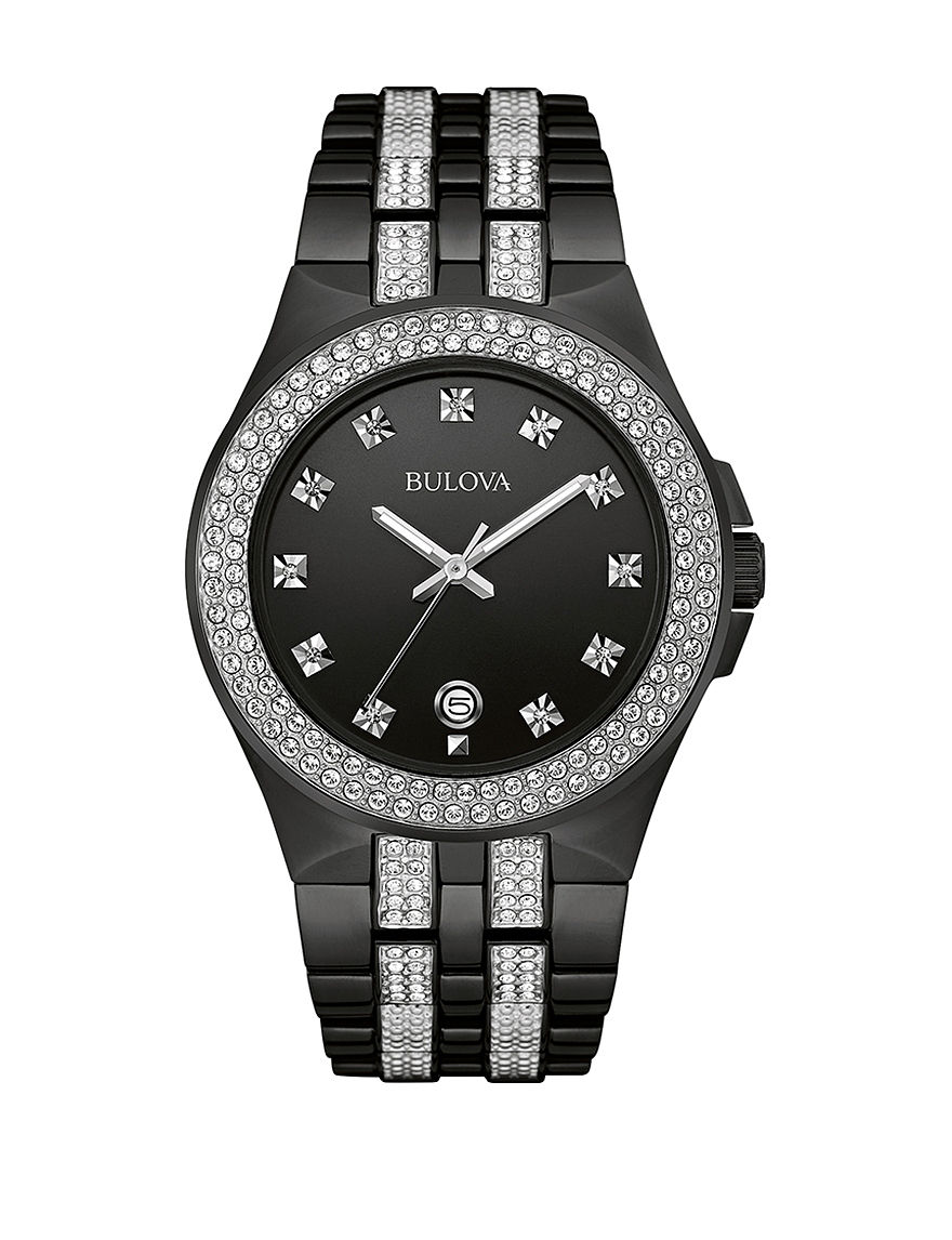 Bulova Black Fashion Watches Bracelets