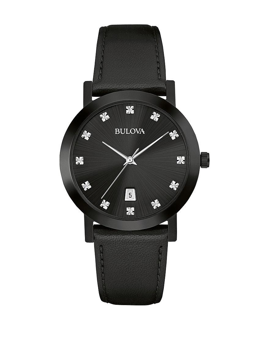 Bulova Black Fashion Watches