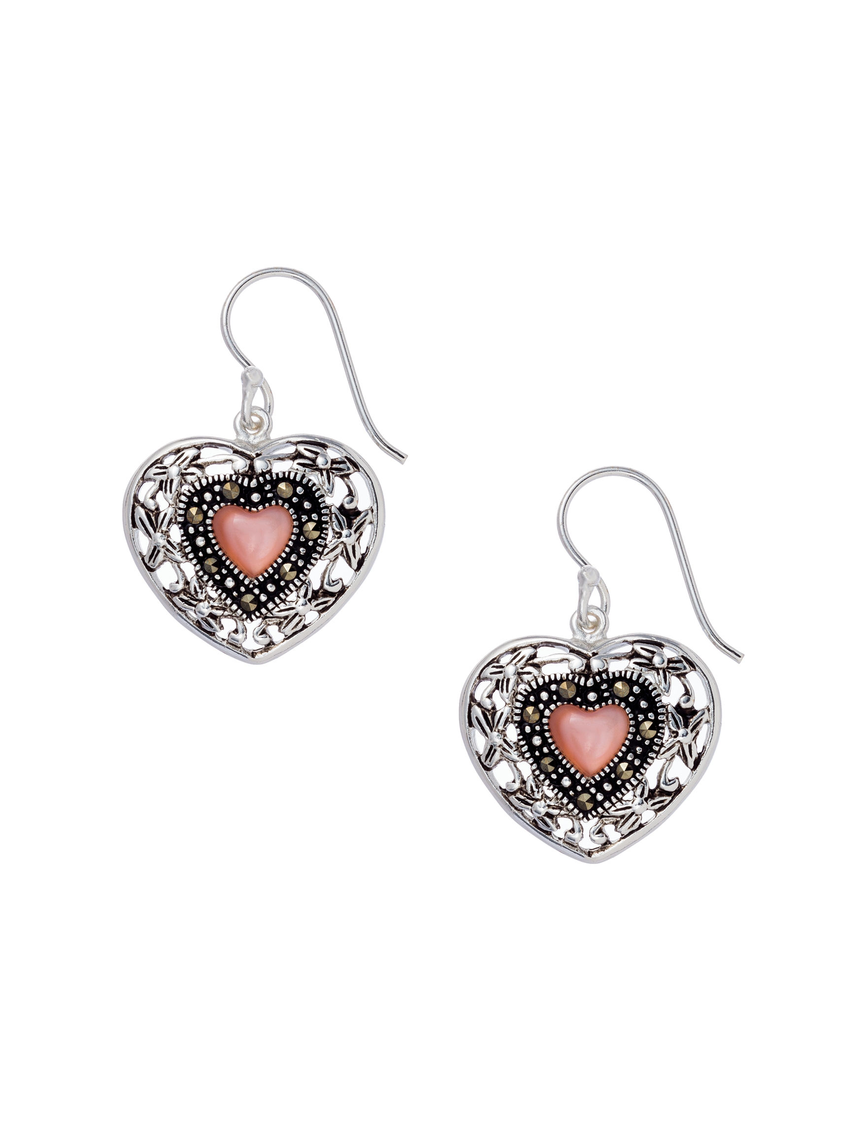Marsala Silver Drops Earrings Fine Jewelry