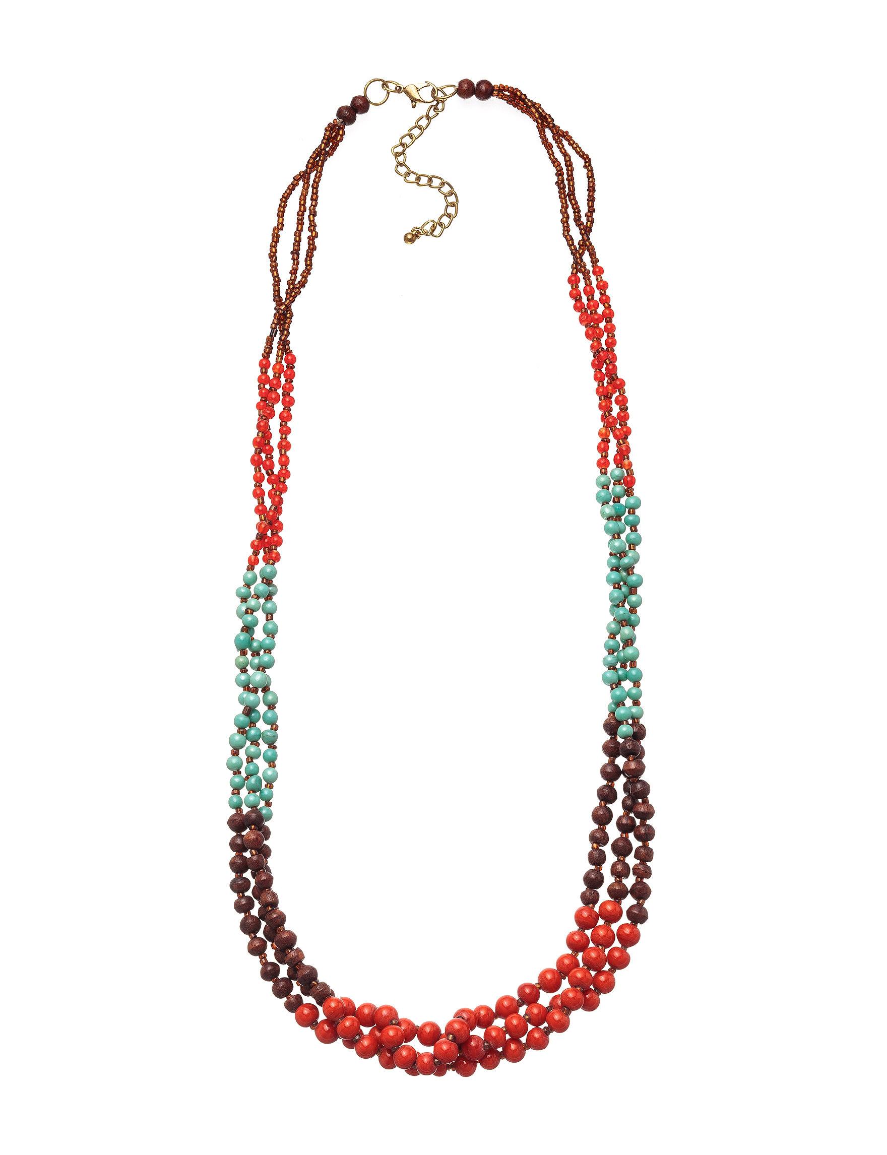 Hannah Orange Multi Necklaces & Pendants Fashion Jewelry