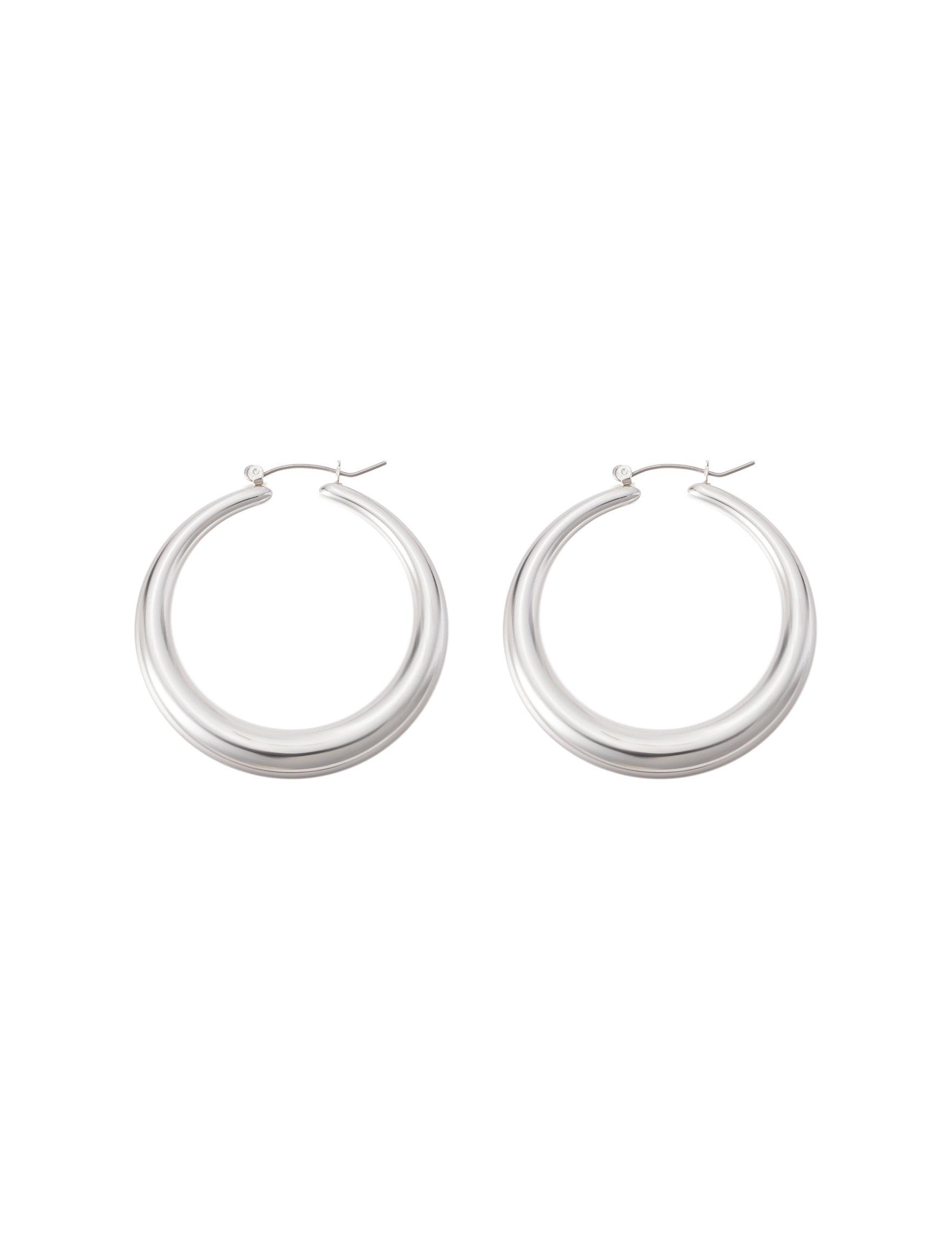 Hannah Silver Hoops Earrings Fashion Jewelry