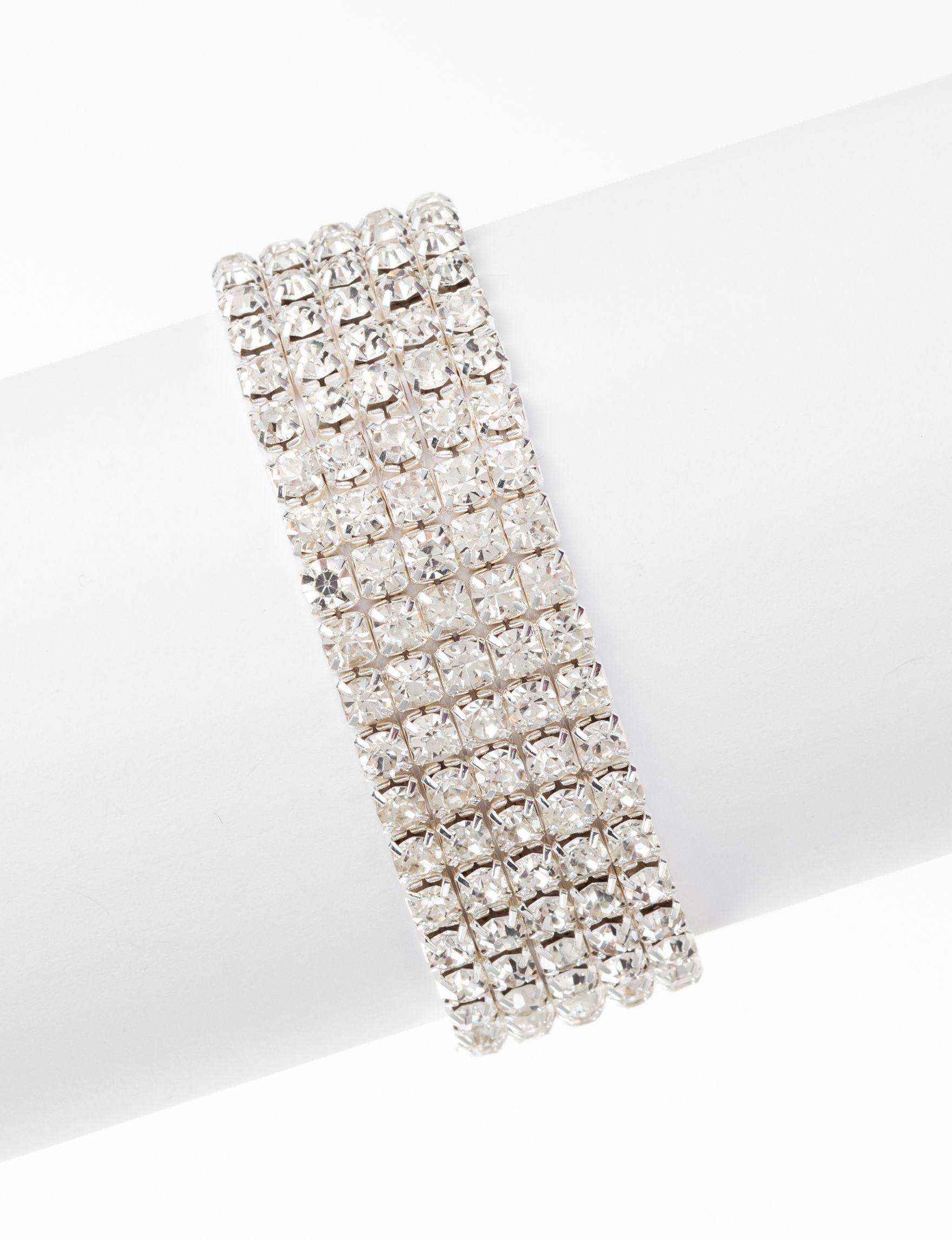 Via Roma Silver / Crystal Bracelets Fashion Jewelry