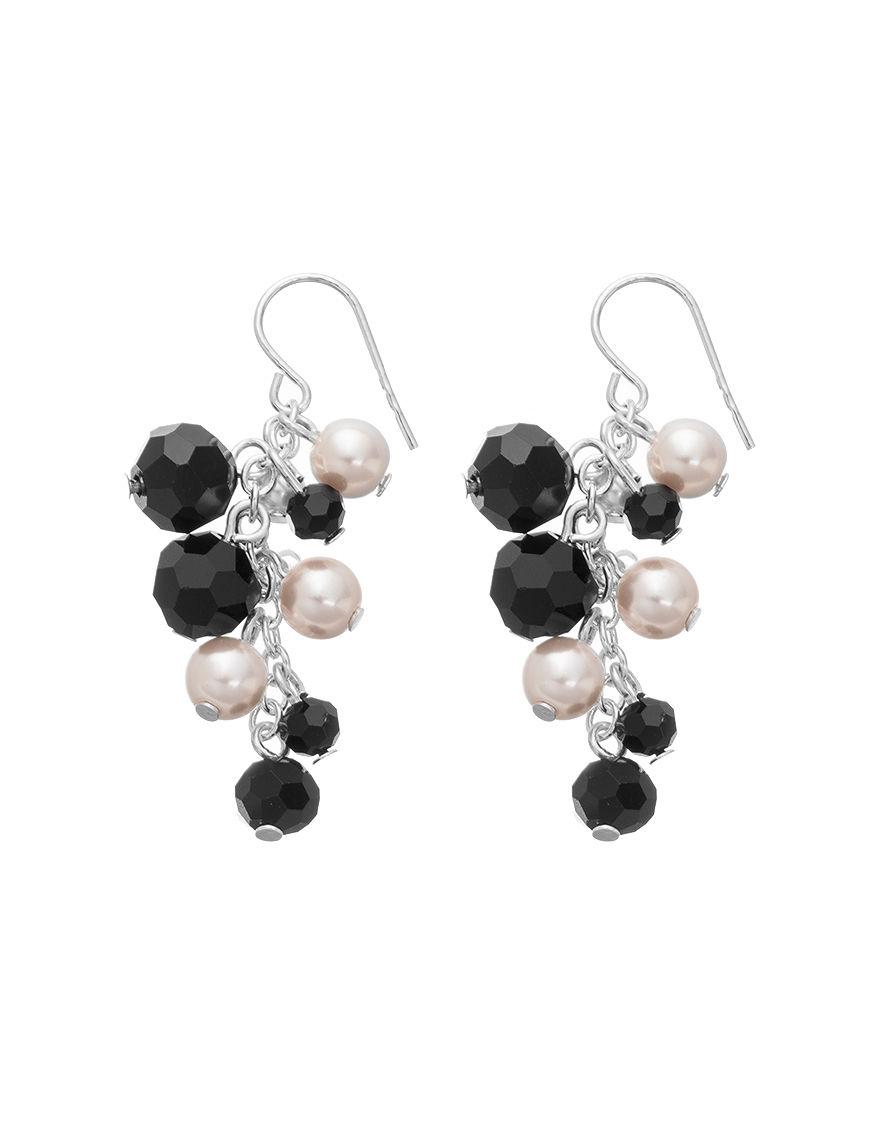 Hannah Black / White Drops Earrings Fashion Jewelry