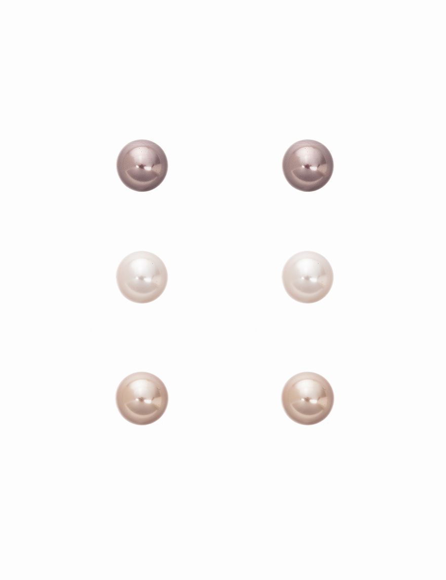 Hannah Beige Studs Earrings Fashion Jewelry