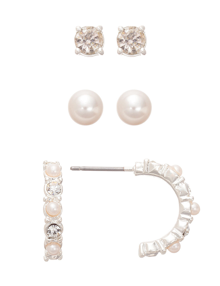 Hannah Pearl / Crystal Studs Earrings Fashion Jewelry