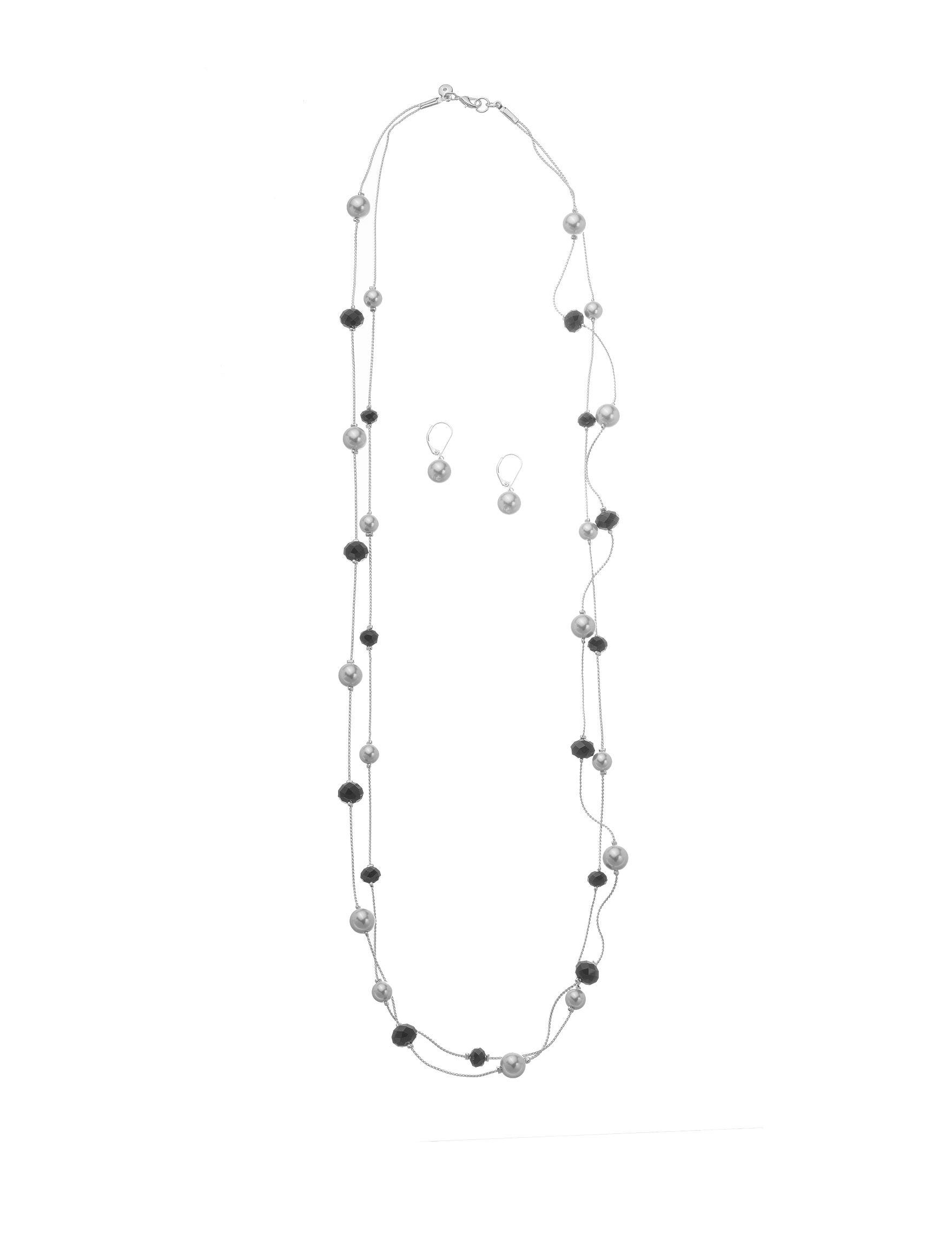 Hannah White / Black Necklaces & Pendants Fashion Jewelry