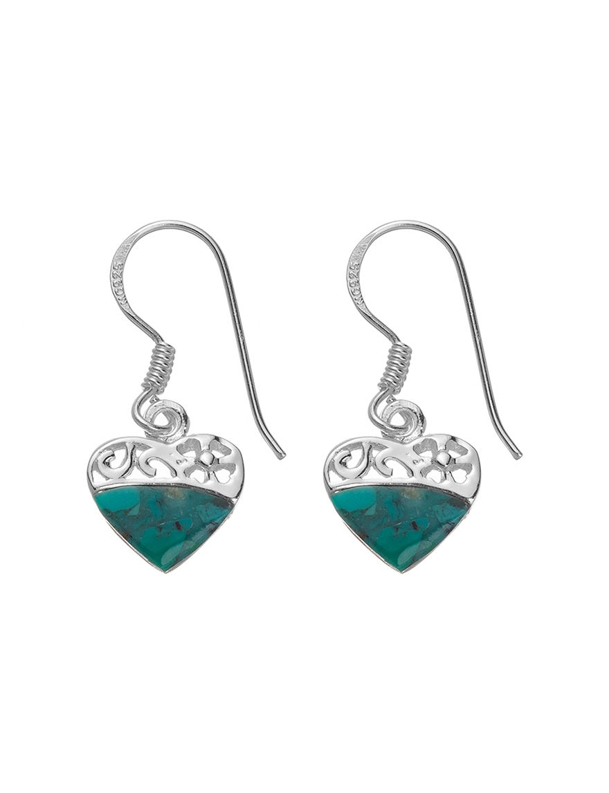 Marsala Green Drops Earrings Fine Jewelry