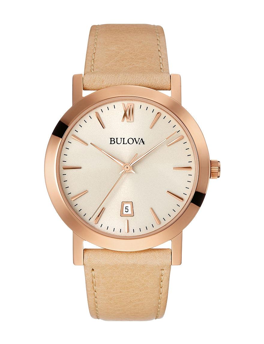 Bulova Beige Fashion Watches