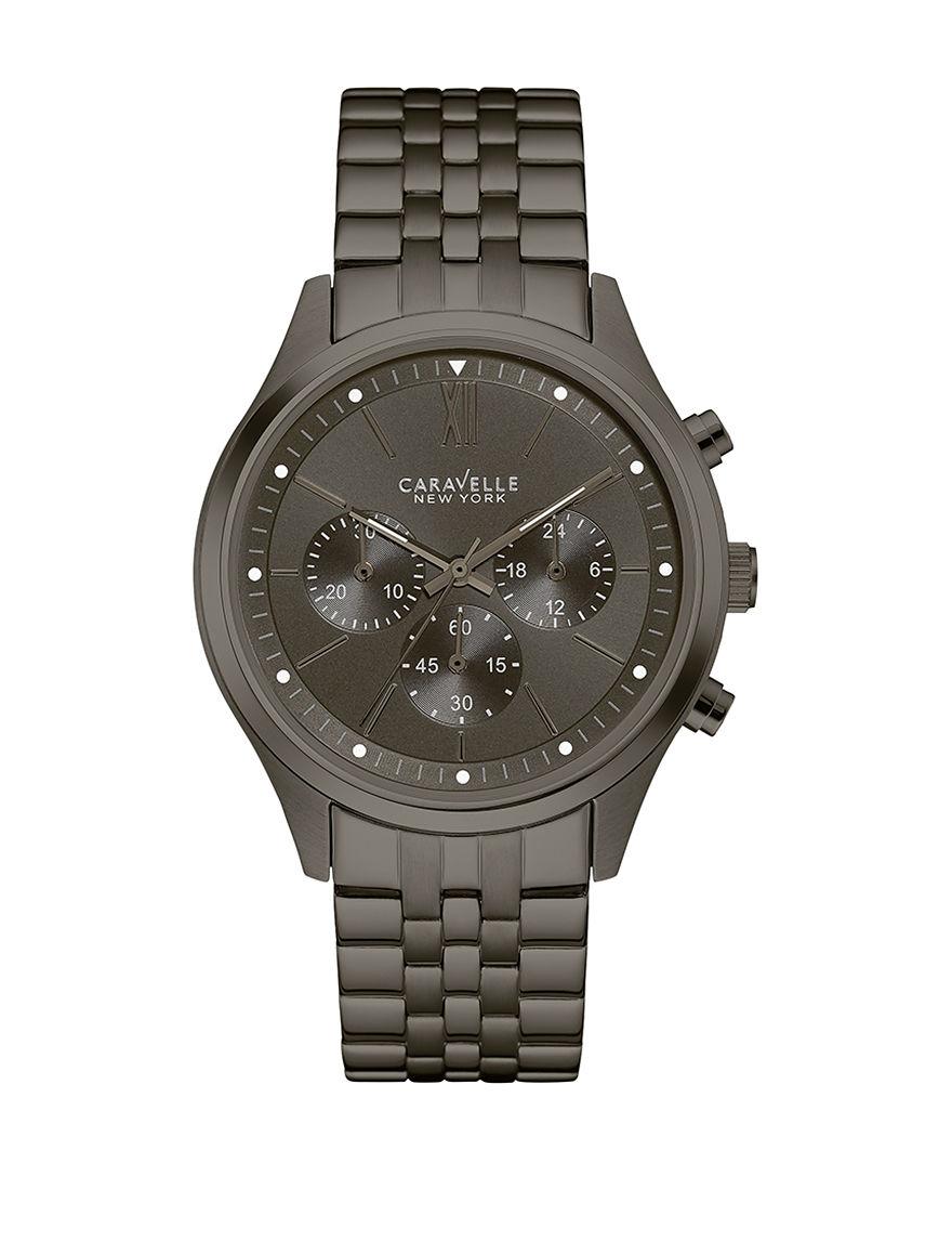Caravelle Gunmetal Fashion Watches