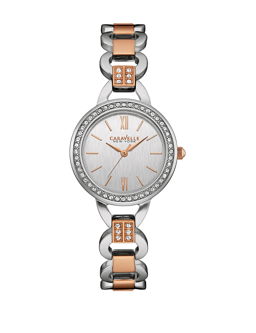 Caravelle Two Tone Fashion Watches