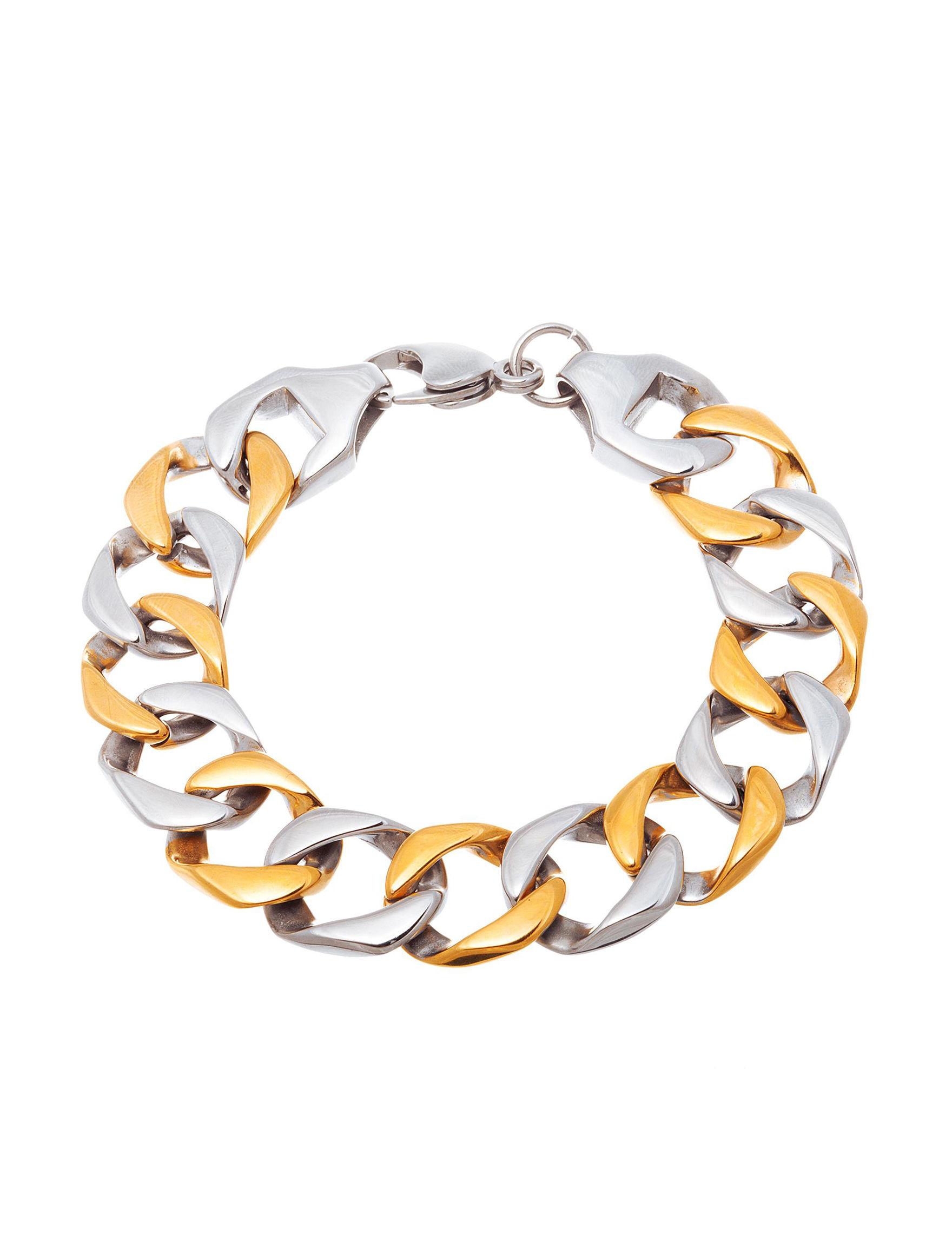 NES Steel/ Gold Bracelets Fine Jewelry