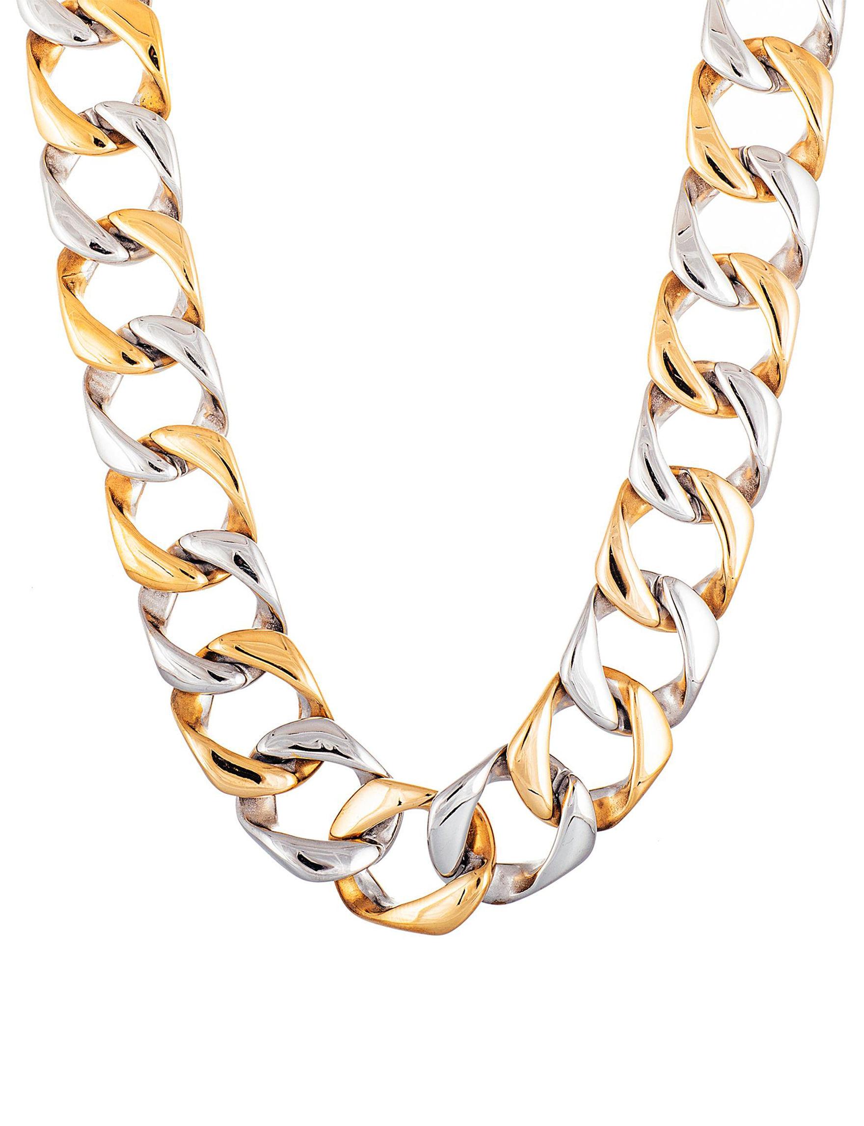 NES Steel/ Gold Necklaces & Pendants Fine Jewelry