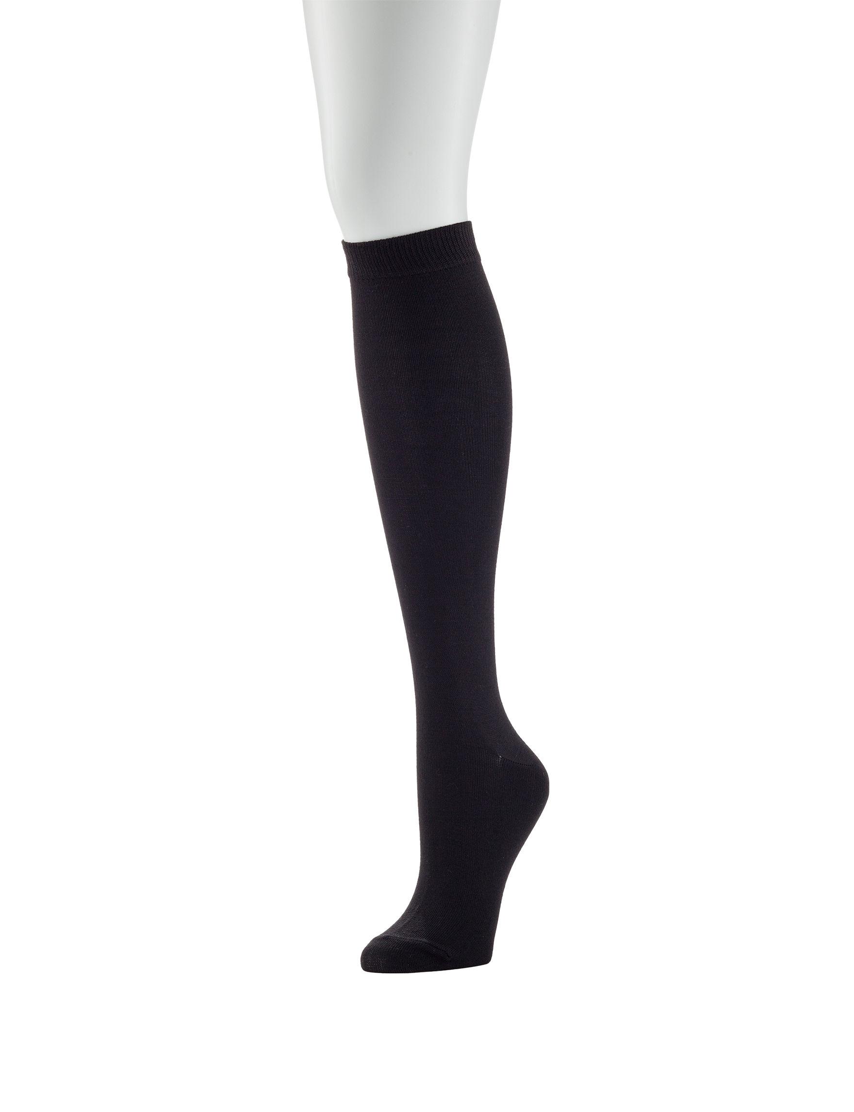 6e3d5193170 Hanes® 2-pk. Black Knee High Socks