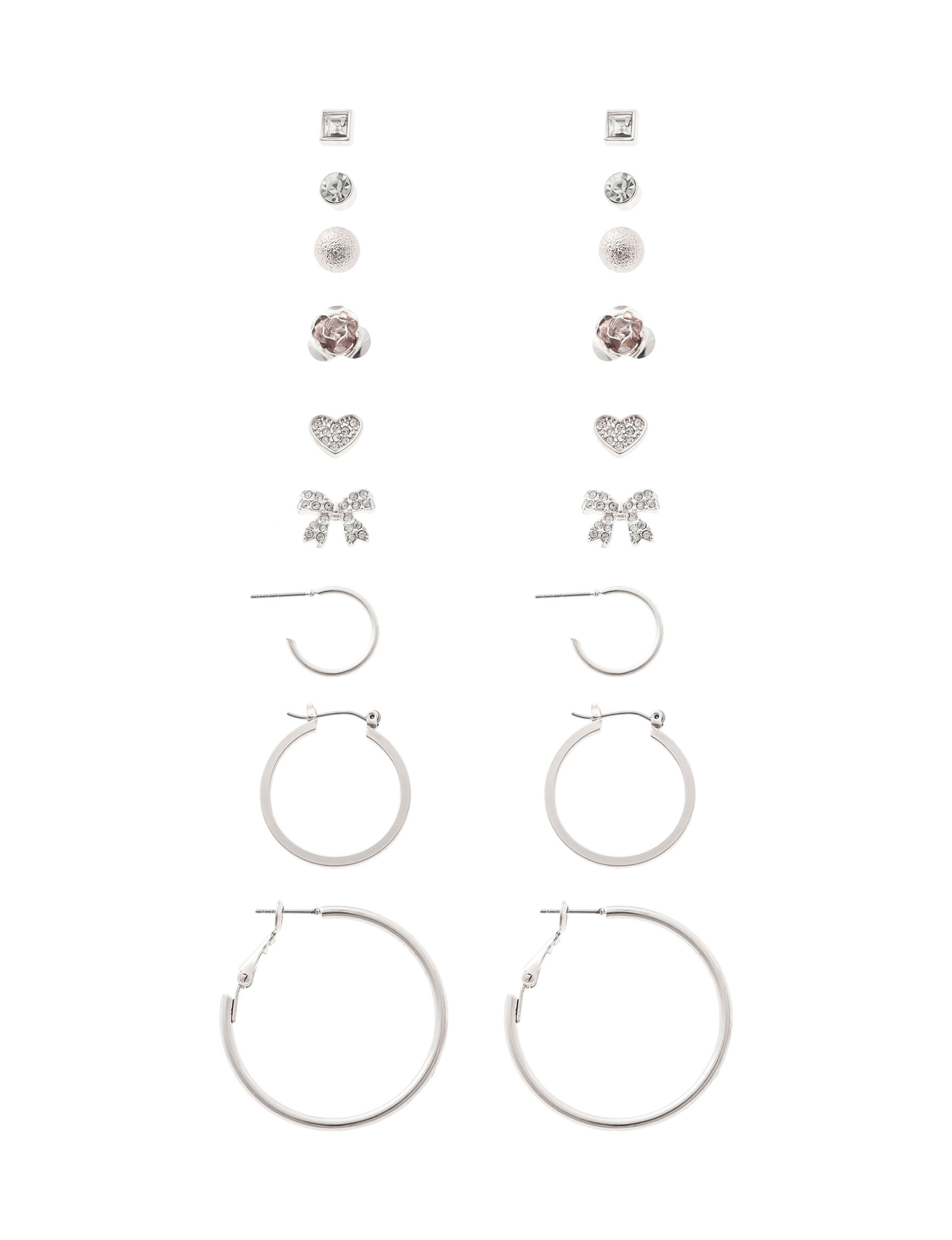 G by Guess Silver Earrings Fashion Jewelry