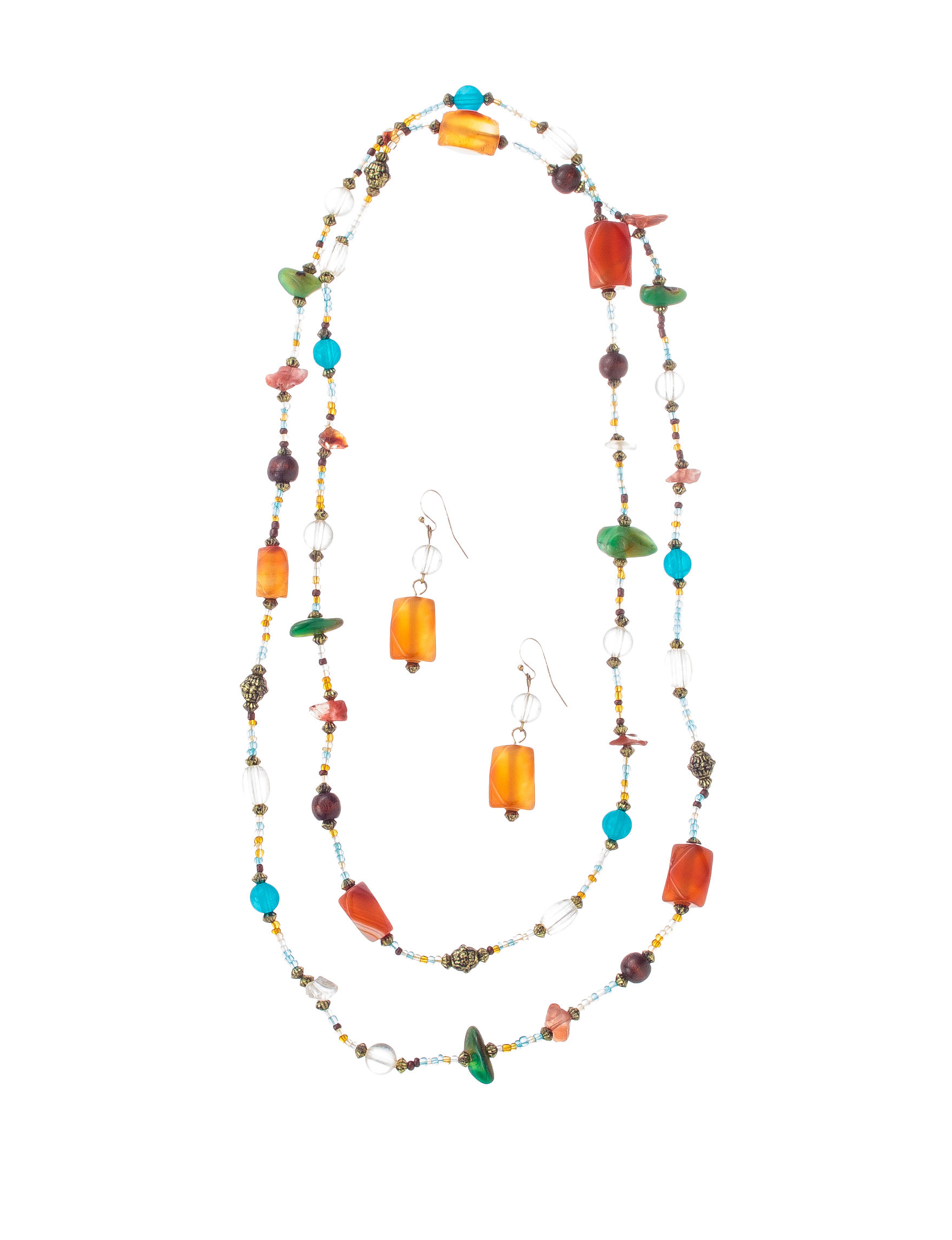 Hannah Silver Multi Stone Earrings Necklaces & Pendants Fashion Jewelry