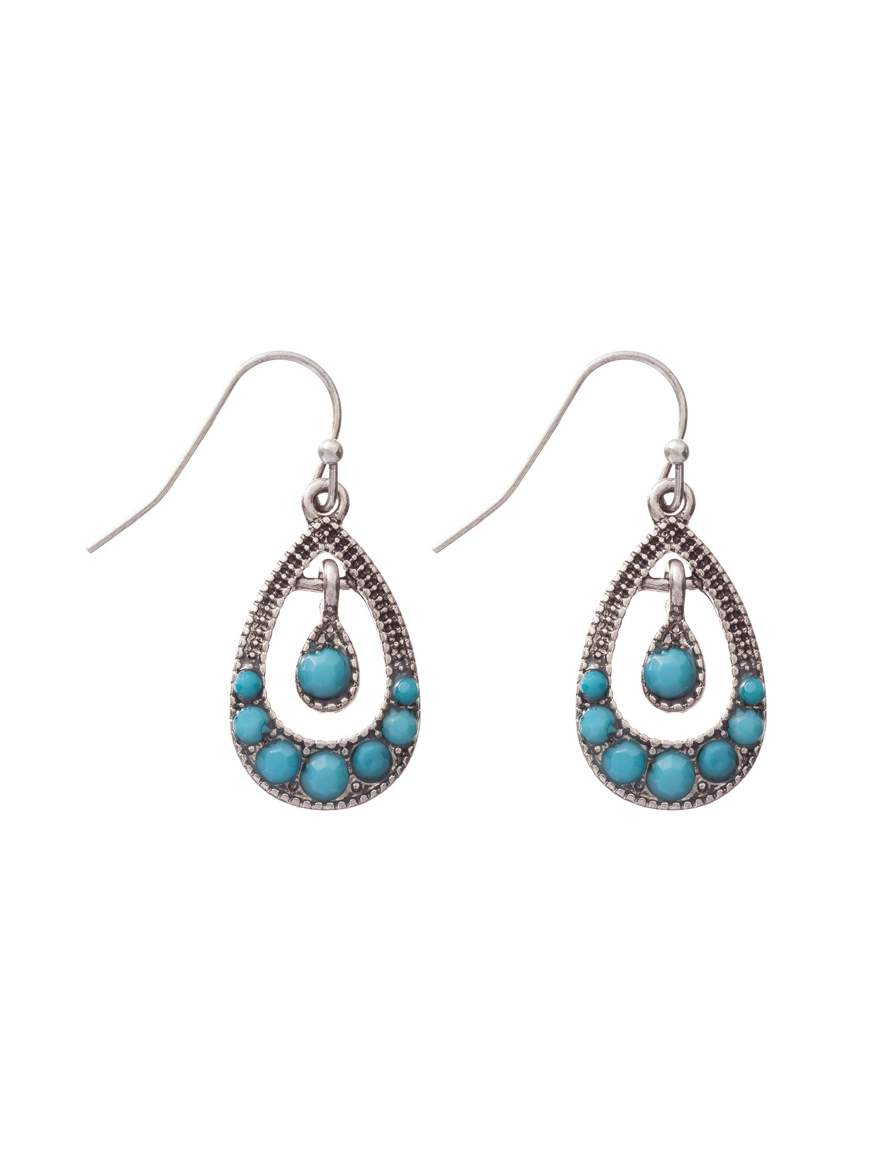 Hannah Turquoise Drops Earrings Fashion Jewelry