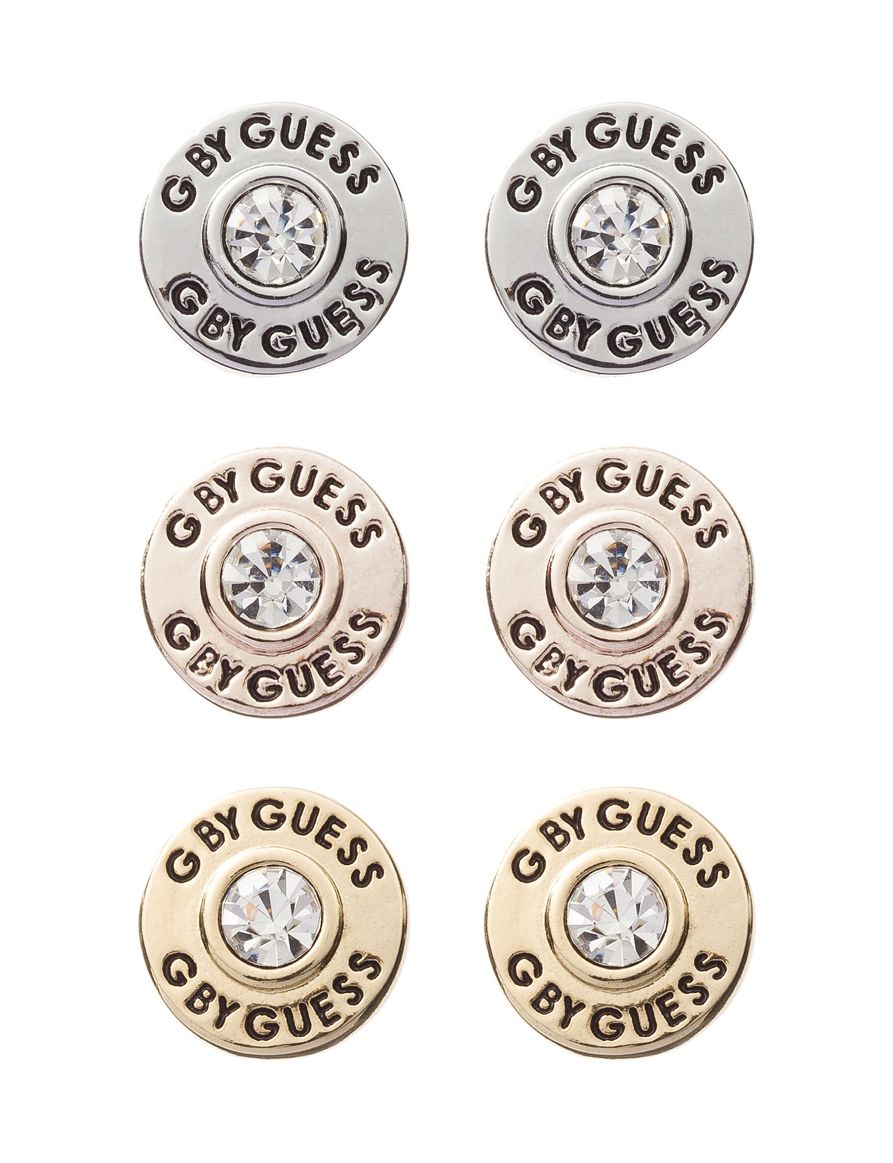 G by Guess Gold Studs Earrings Fashion Jewelry