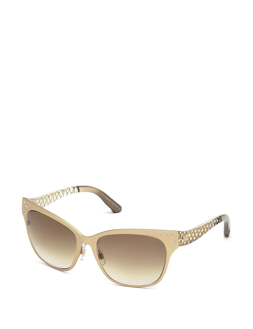 25060a2f3abc ... Designer Sunglasses Caliber 57 UPC 664689604463 product image for  Swarovski Dalia Quilt Gradient Brown Sunglasses - Yellow - Swarovski