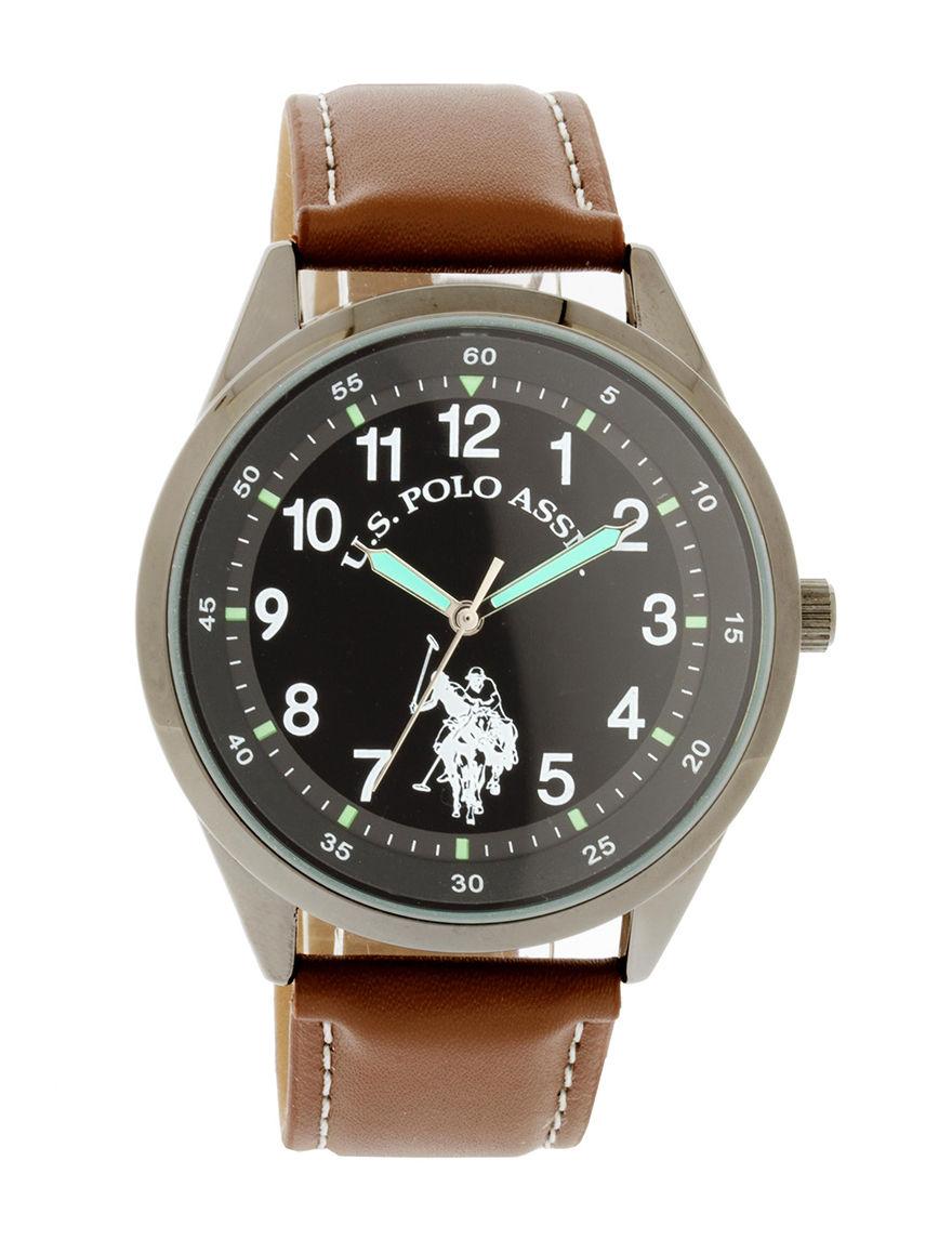U.S. Polo Assn. Brown Fashion Watches