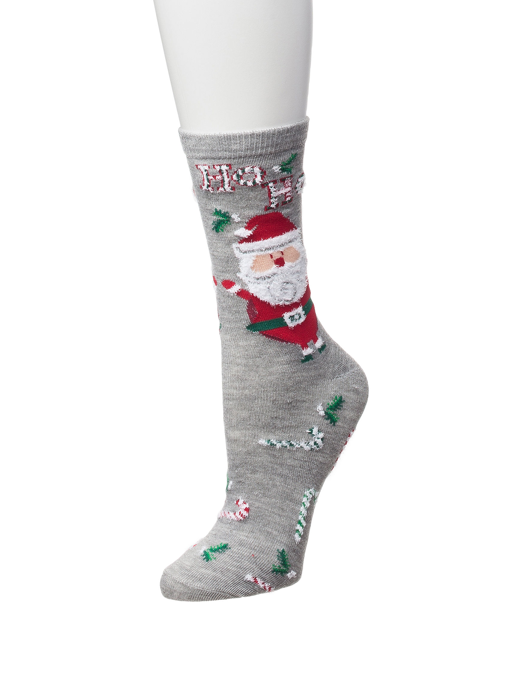 Happy Holidays Grey Socks