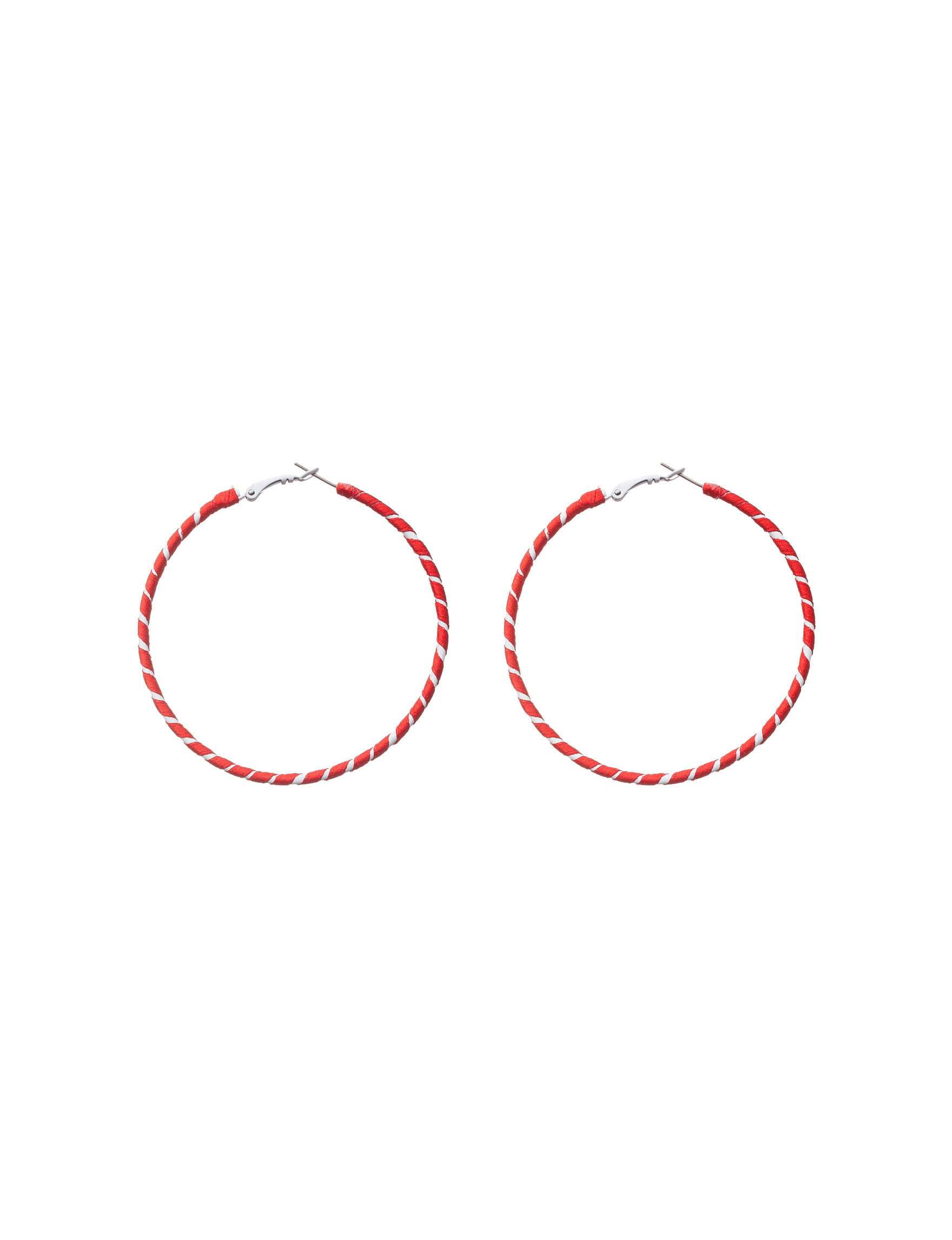 Hannah Red Hoops Fashion Jewelry
