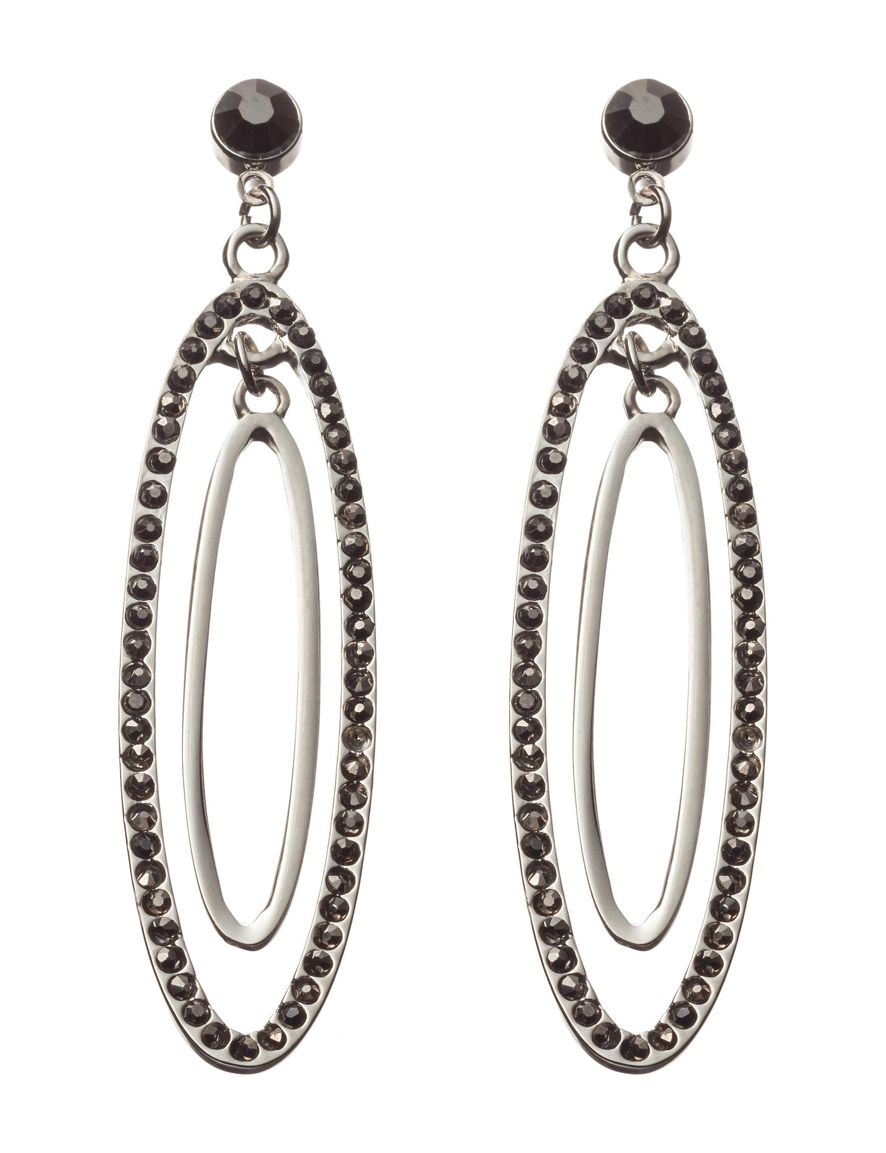 Hannah Grey Drops Earrings Fashion Jewelry