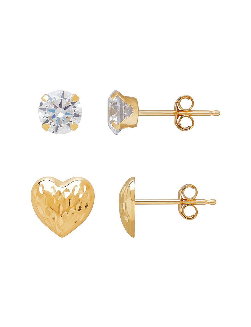 Aurafin Oro America Gold Earrings Fine Jewelry