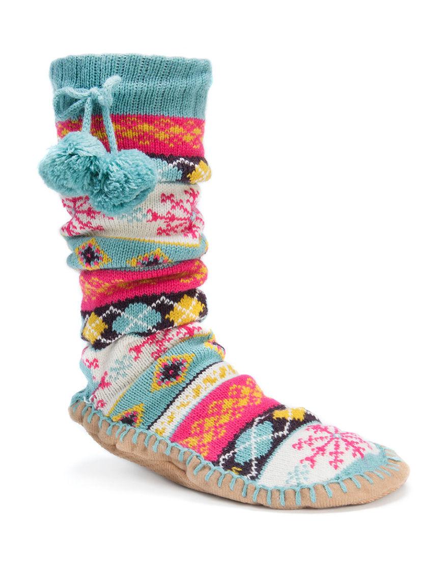 Muk Luks Light Blue Socks